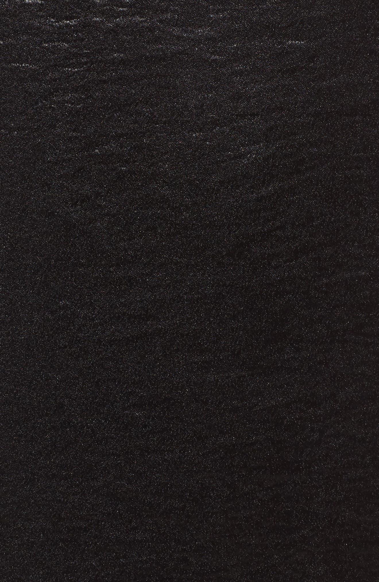 Nash One-Shoulder Shift Dress,                             Alternate thumbnail 5, color,                             001