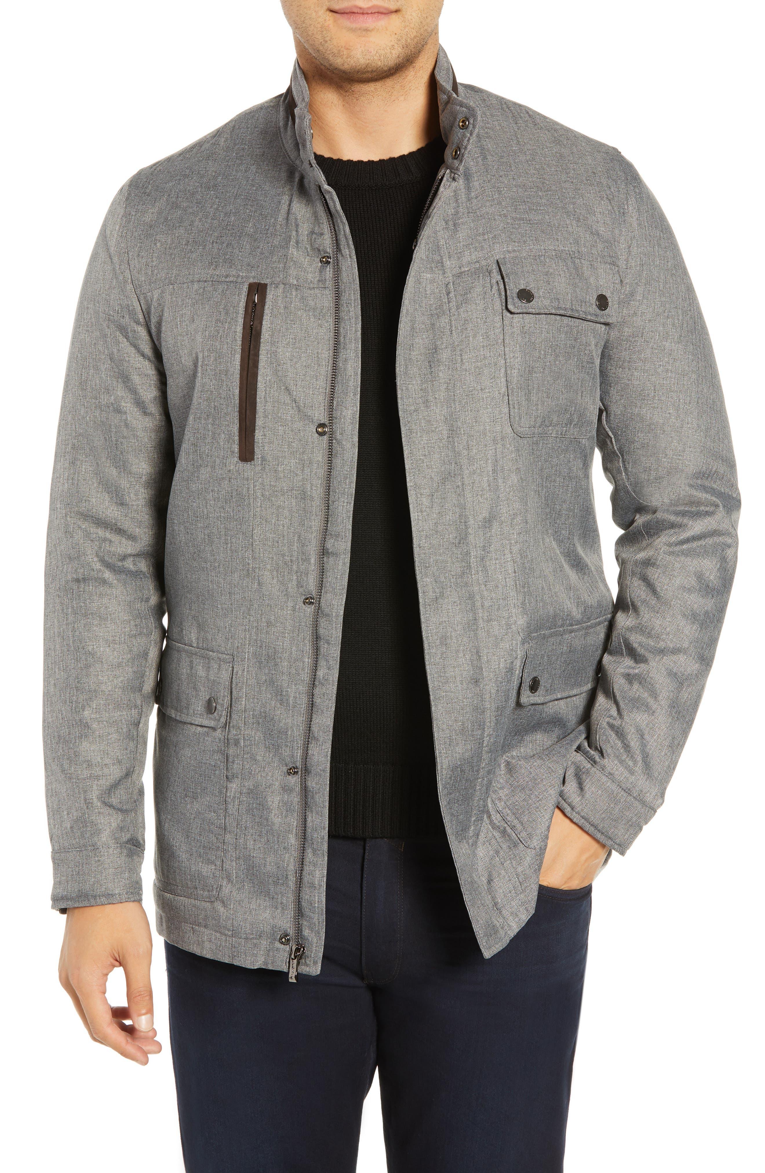 BUGATCHI Utility Jacket, Main, color, 038