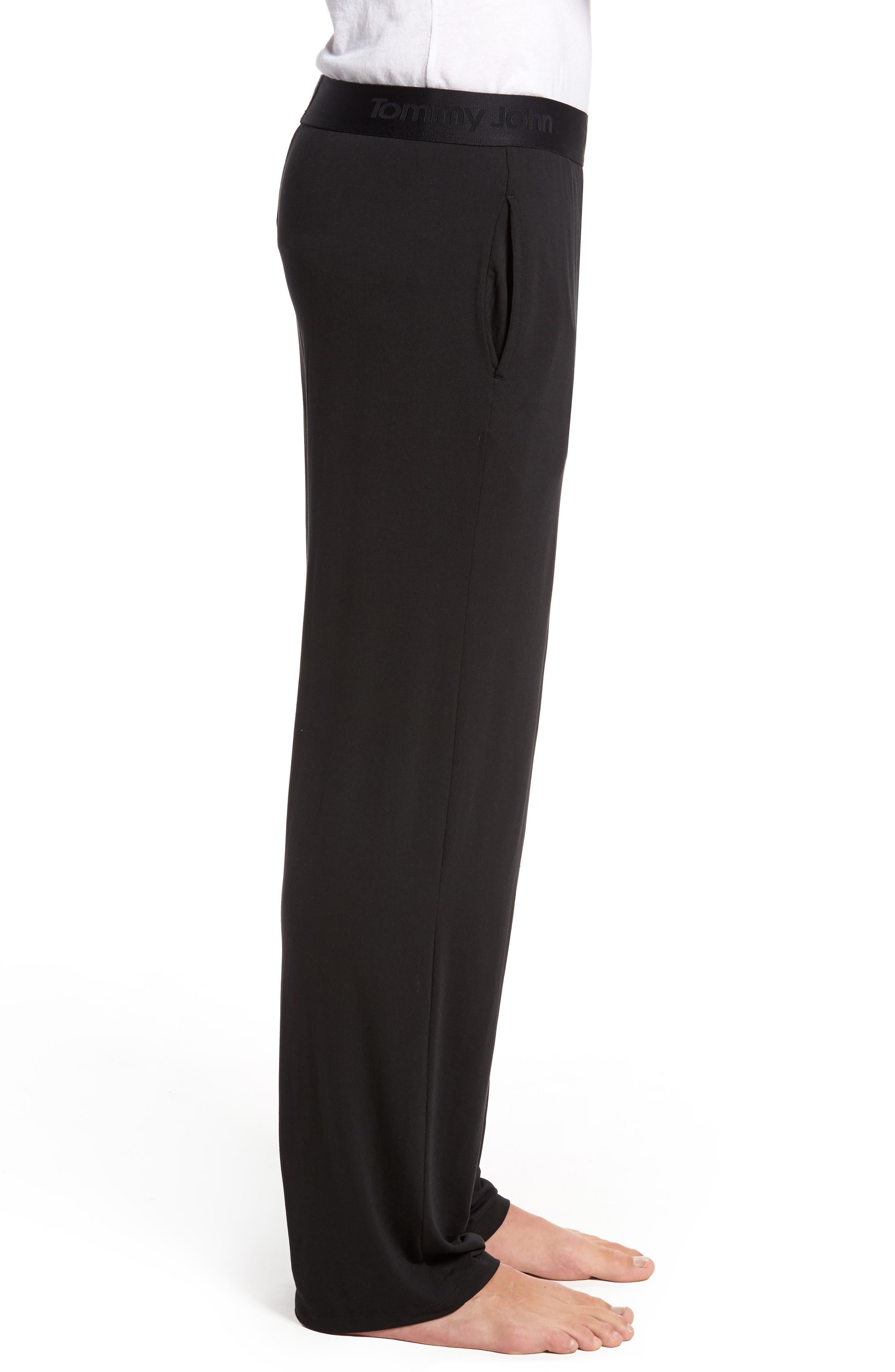 Second Skin Lounge Pants,                             Alternate thumbnail 3, color,                             BLACK