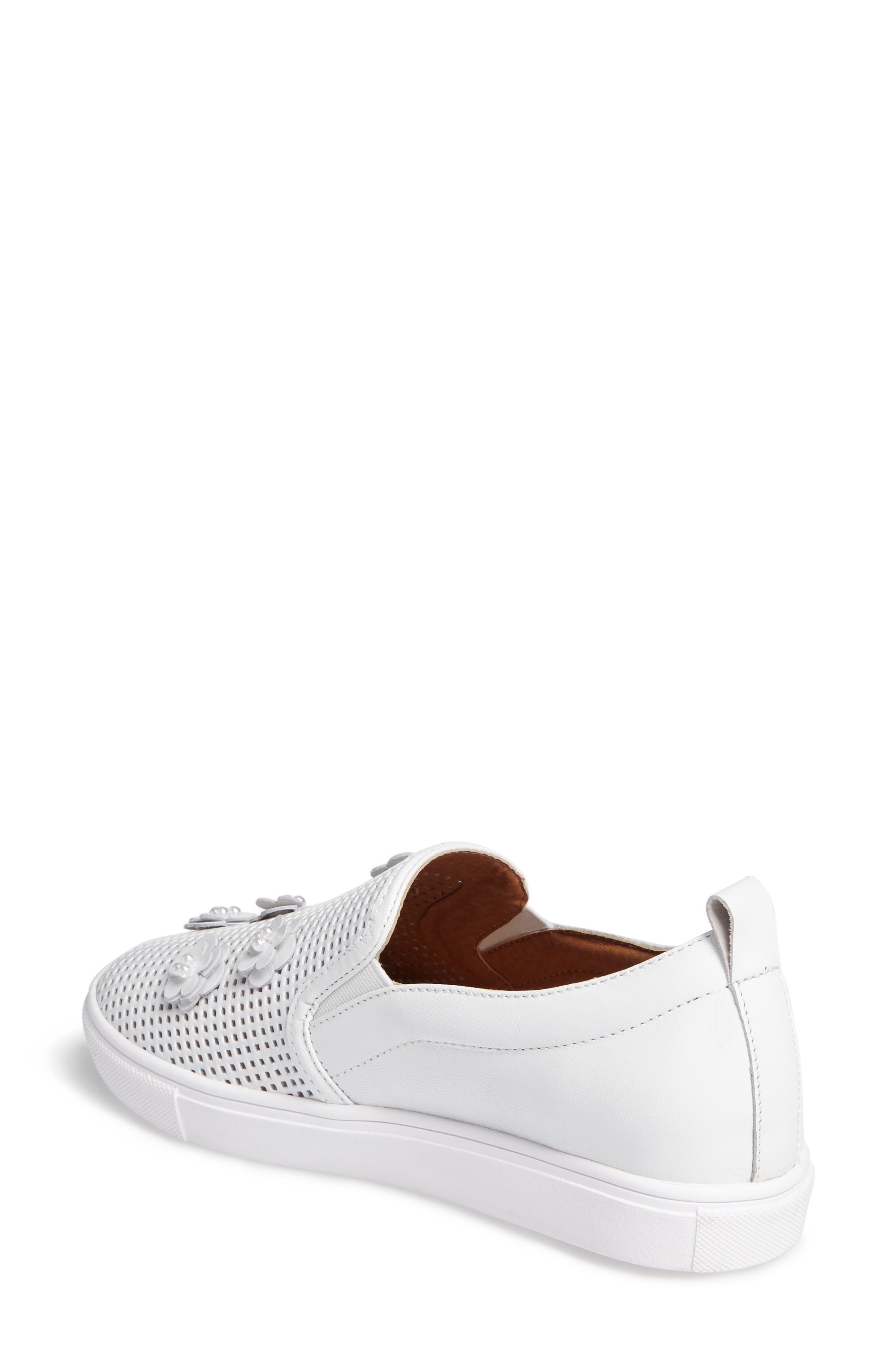 Eden Perforated Slip-On Sneaker,                             Alternate thumbnail 2, color,                             100