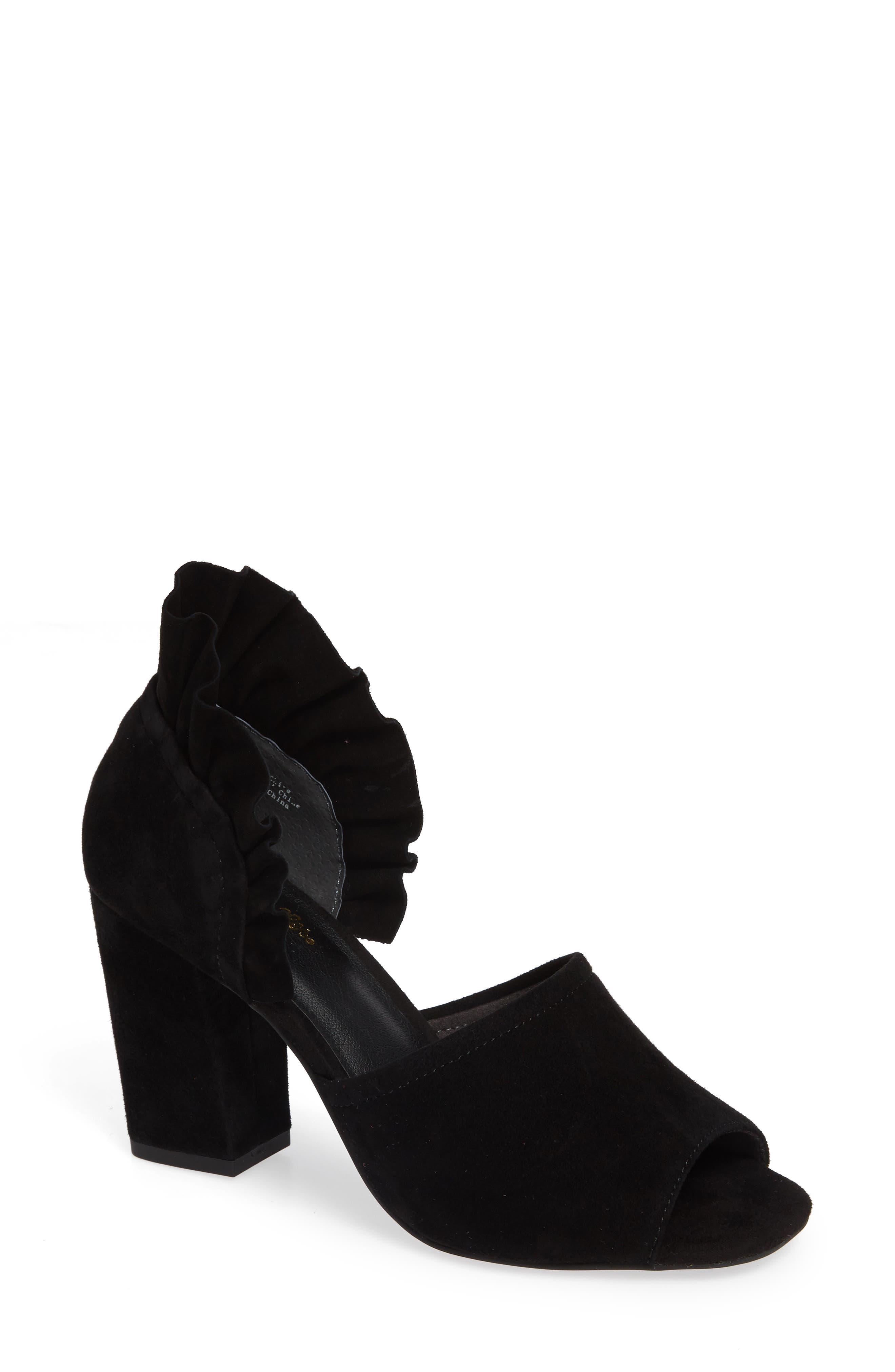 Tropical Sandal,                         Main,                         color, BLACK SUEDE