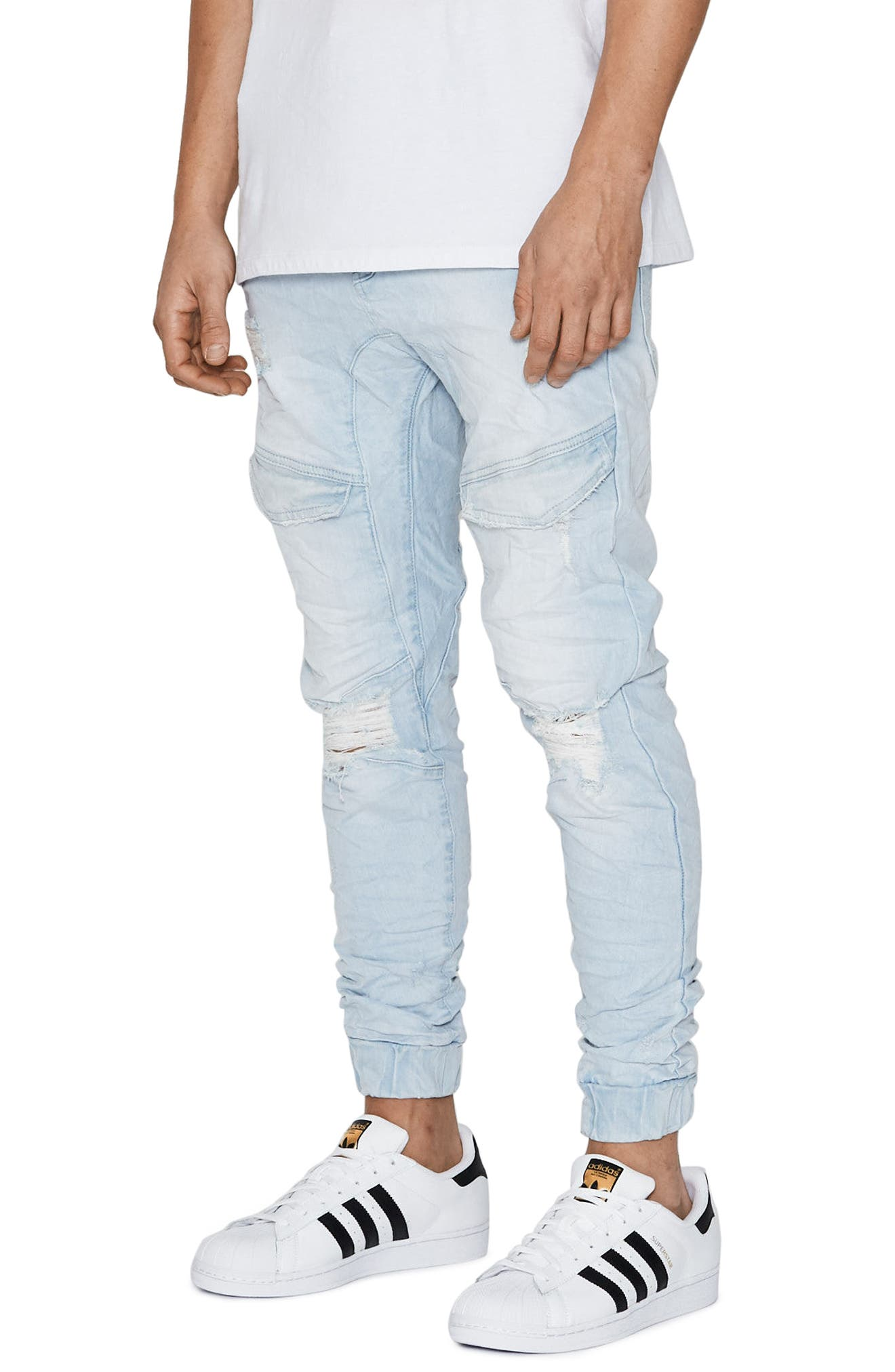 Flight Skinny Denim Jogger Pants,                             Alternate thumbnail 23, color,