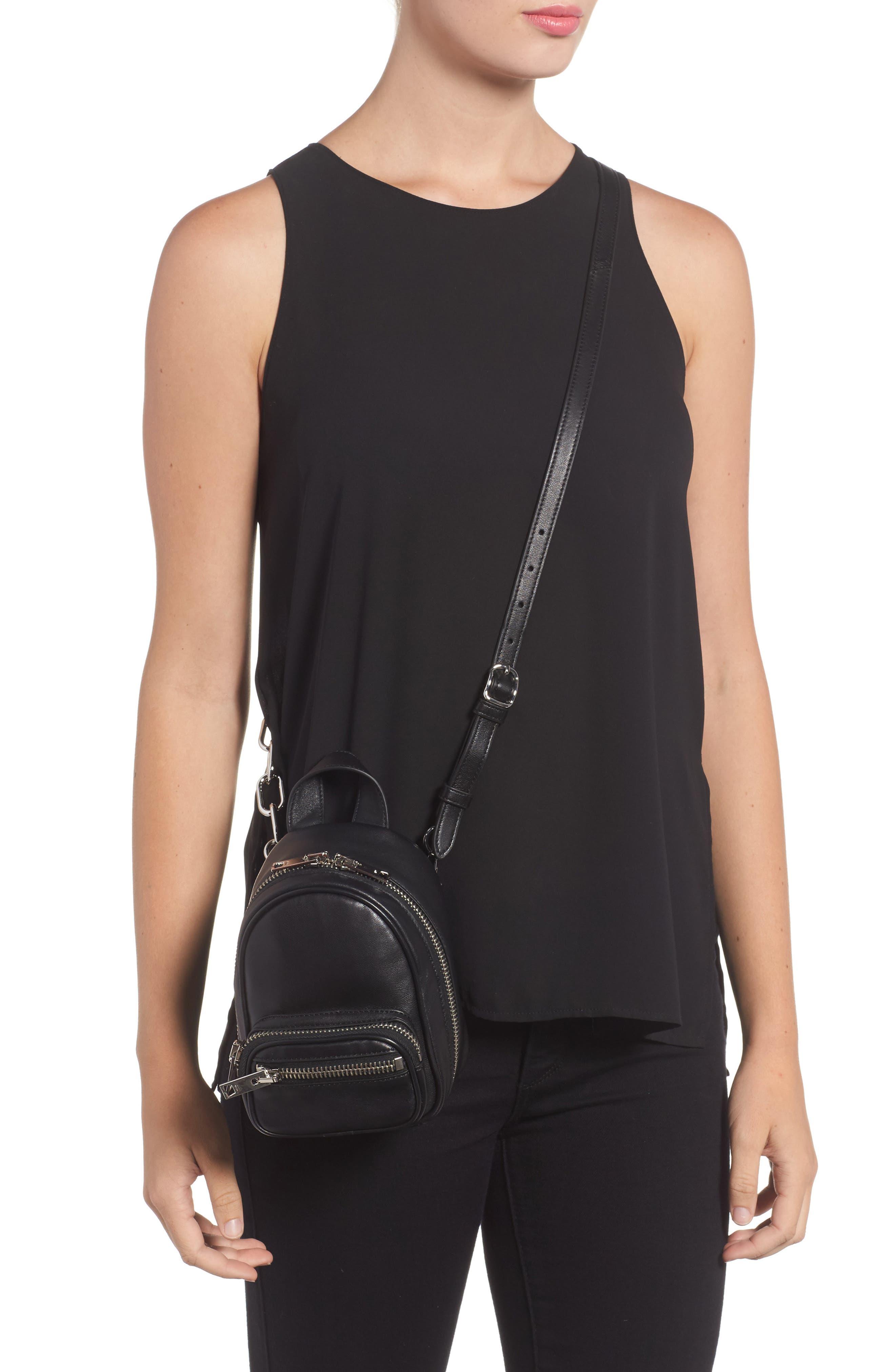 Mini Attica Leather Backpack Shaped Crossbody Bag,                             Alternate thumbnail 2, color,