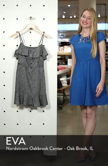 Button Front Frilly Dot Dress, sales video thumbnail