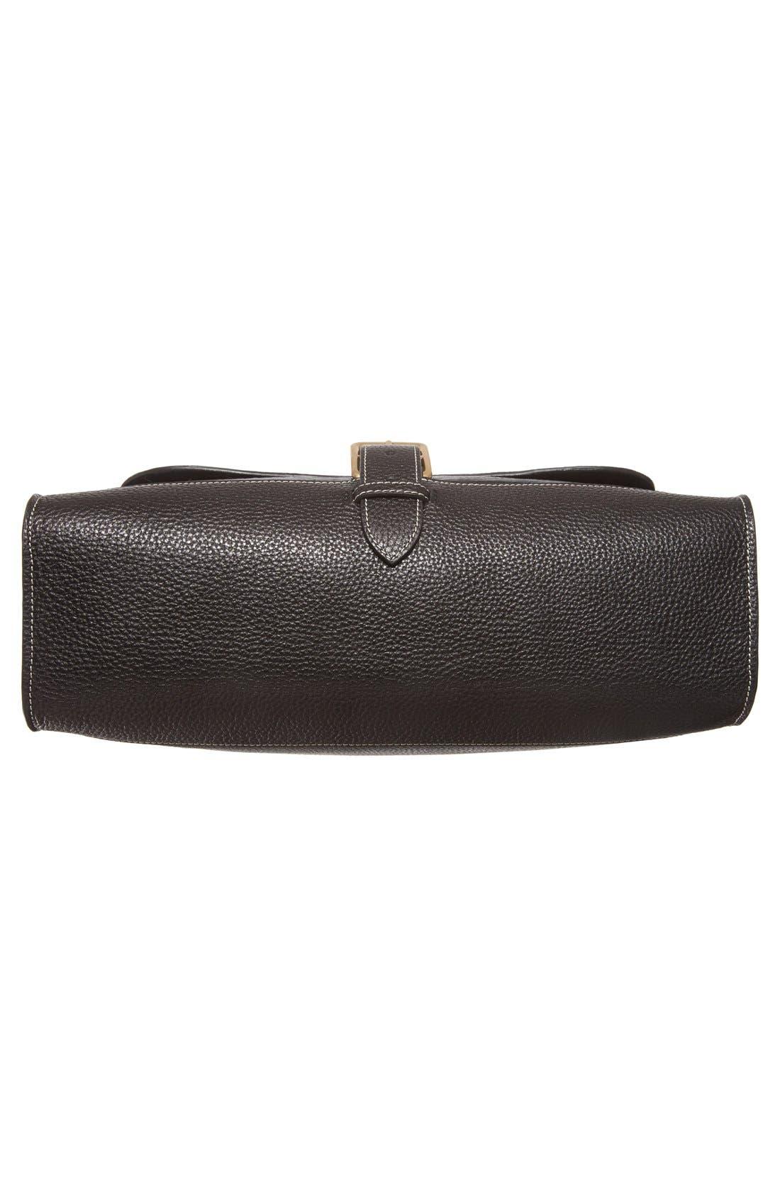 'Small Buckle' Leather Shoulder Bag,                             Alternate thumbnail 6, color,                             001