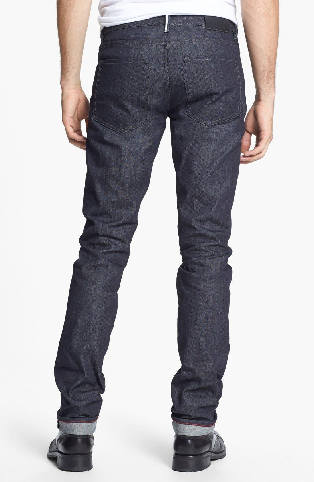 RALEIGH DENIM,                             'Martin' Skinny Fit Selvedge Jeans,                             Alternate thumbnail 4, color,                             401