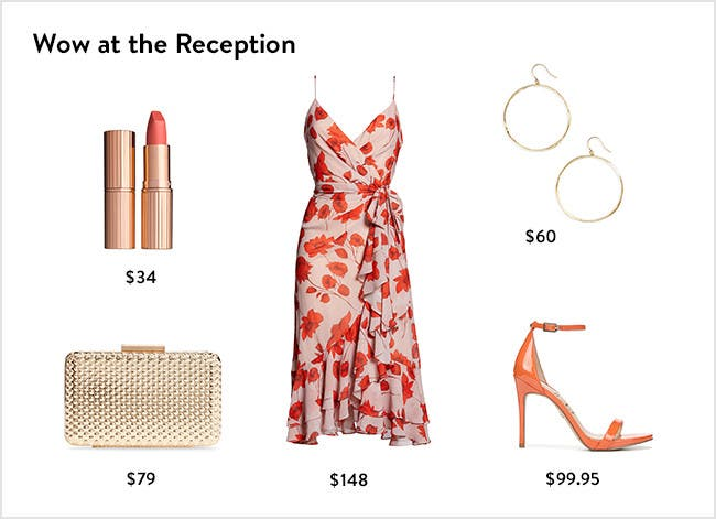 Wow at the reception: wedding-guest dresses, shoes and accessories.