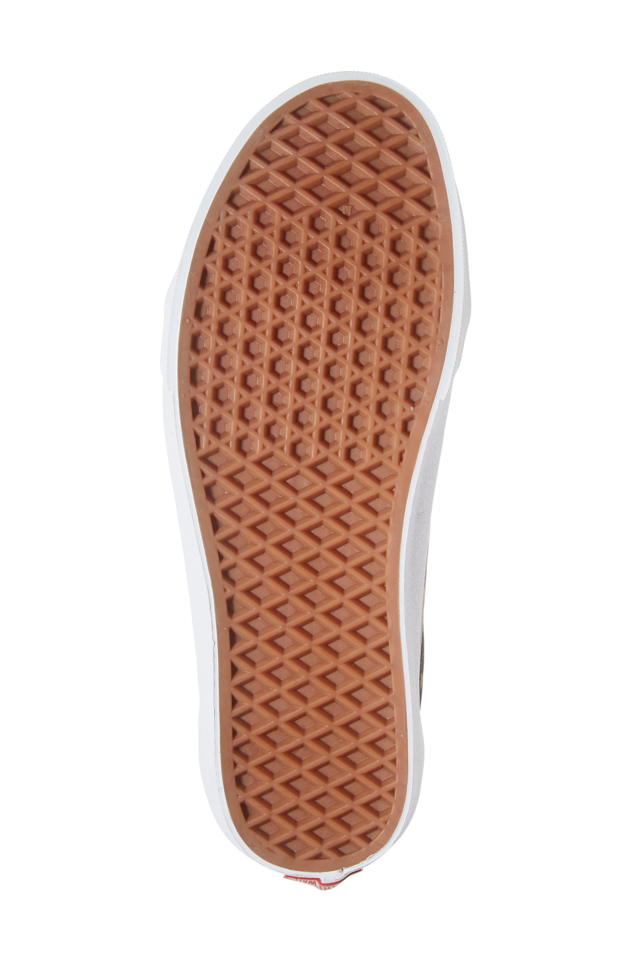 Old Skool Ghillie Sneaker,                             Alternate thumbnail 6, color,                             BLACK NYLON/ LEOPARD NYLON