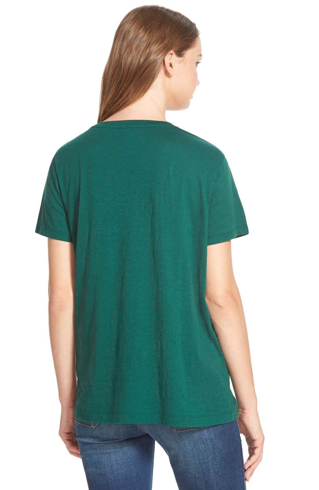 Whisper Cotton V-Neck Pocket Tee,                             Alternate thumbnail 145, color,