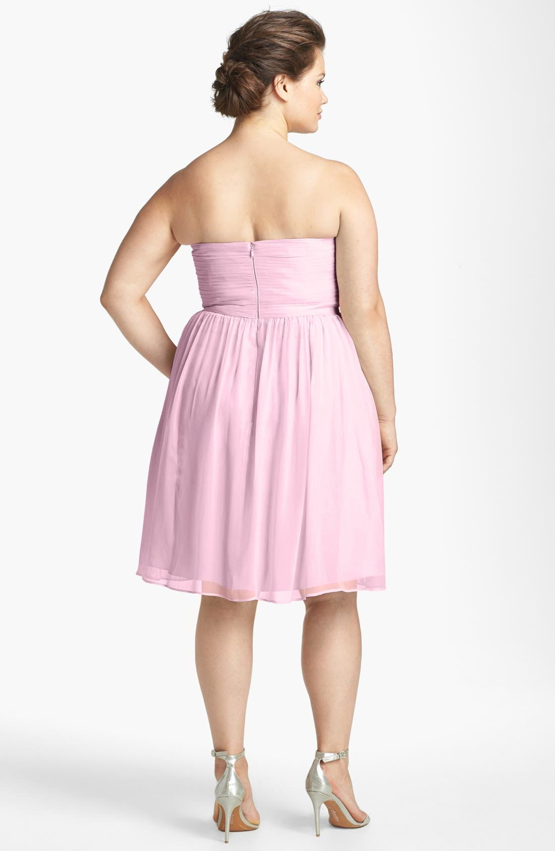 'Morgan' Strapless Silk Chiffon Dress,                             Main thumbnail 32, color,