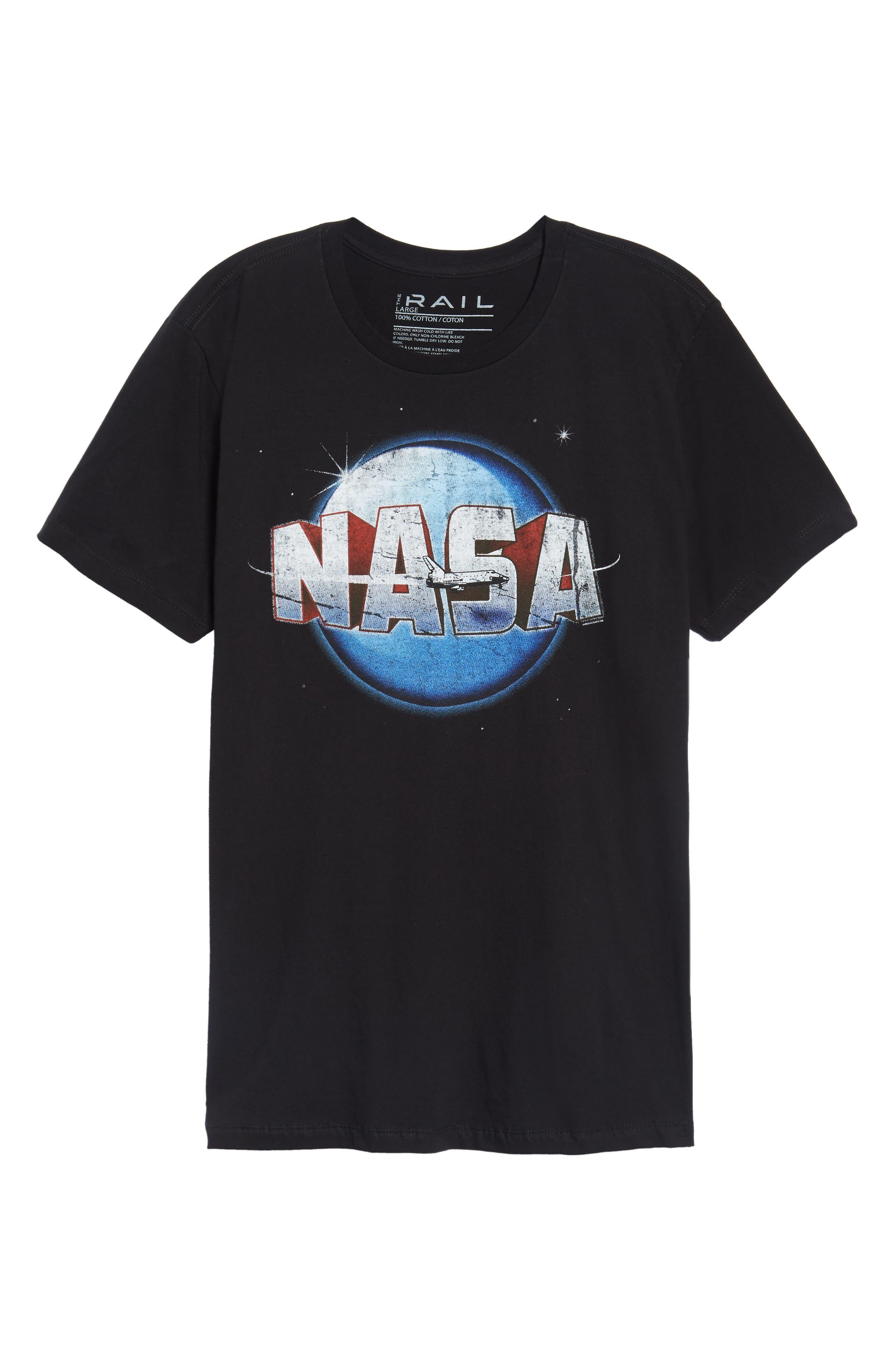 NASA Moon Graphic T-Shirt,                             Alternate thumbnail 6, color,                             001