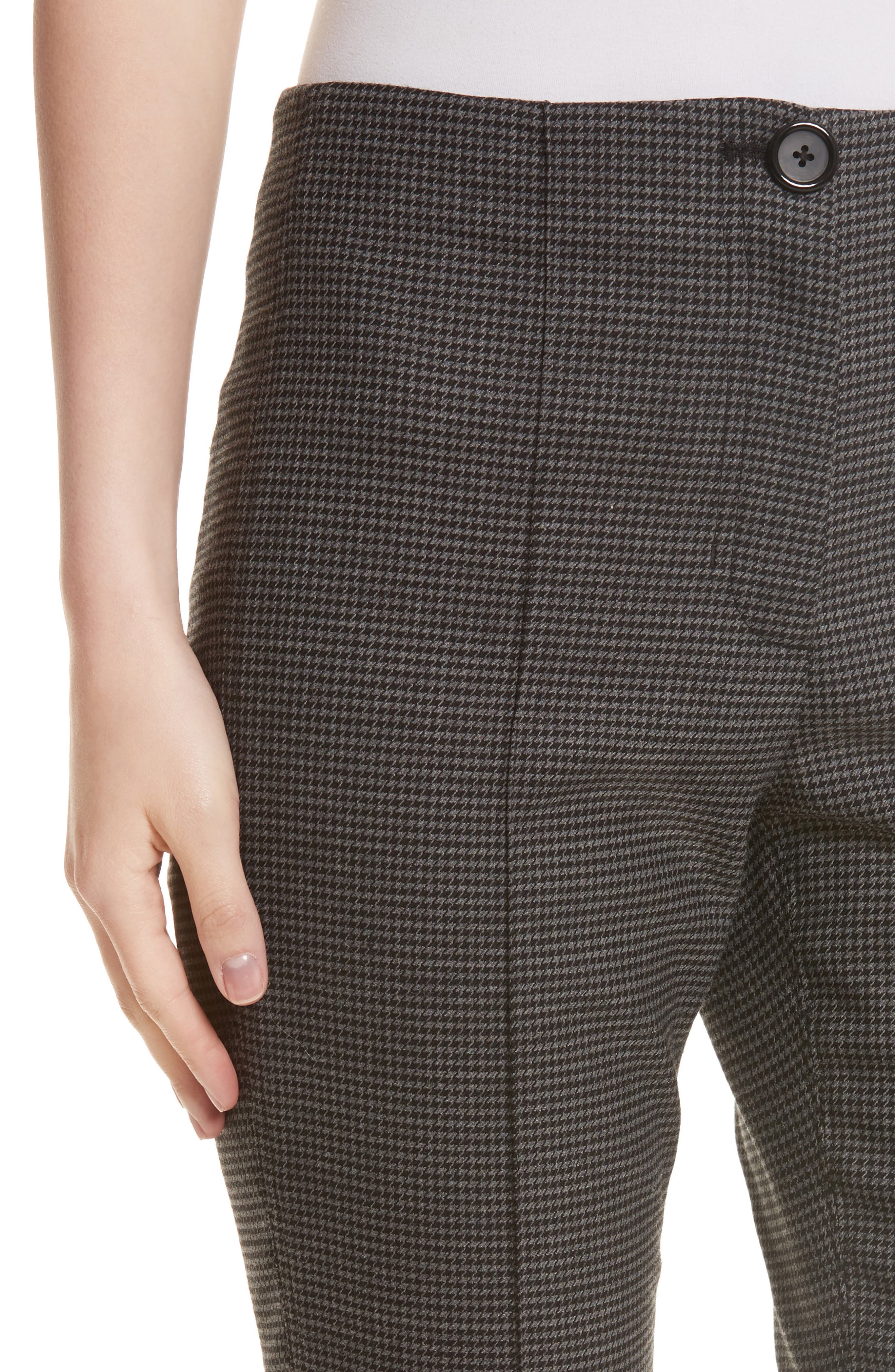 Mini Houndstooth Crop Flare Pants,                             Alternate thumbnail 4, color,                             029