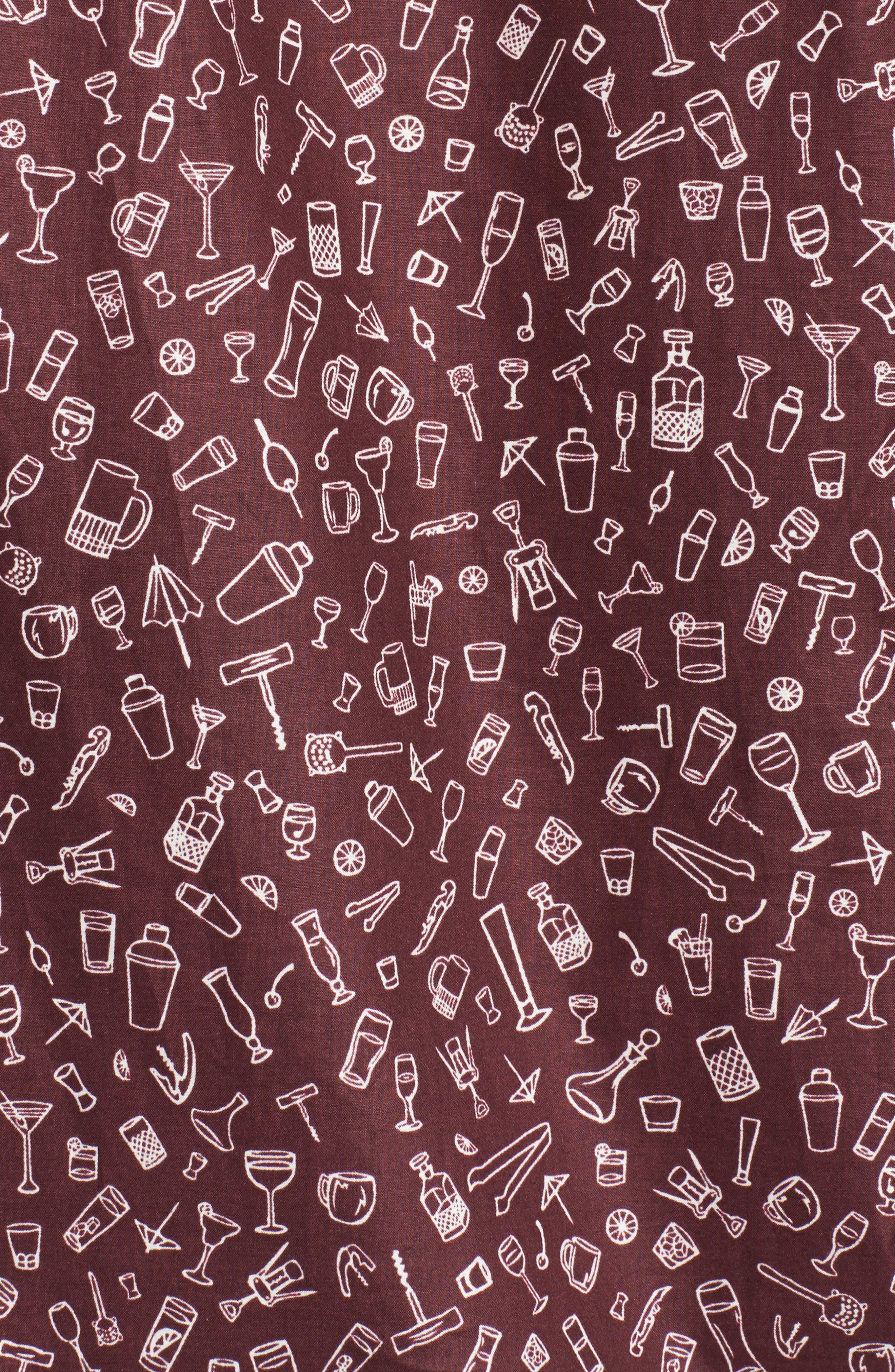 5 PM Slim Fit Camp Shirt,                             Alternate thumbnail 5, color,                             600