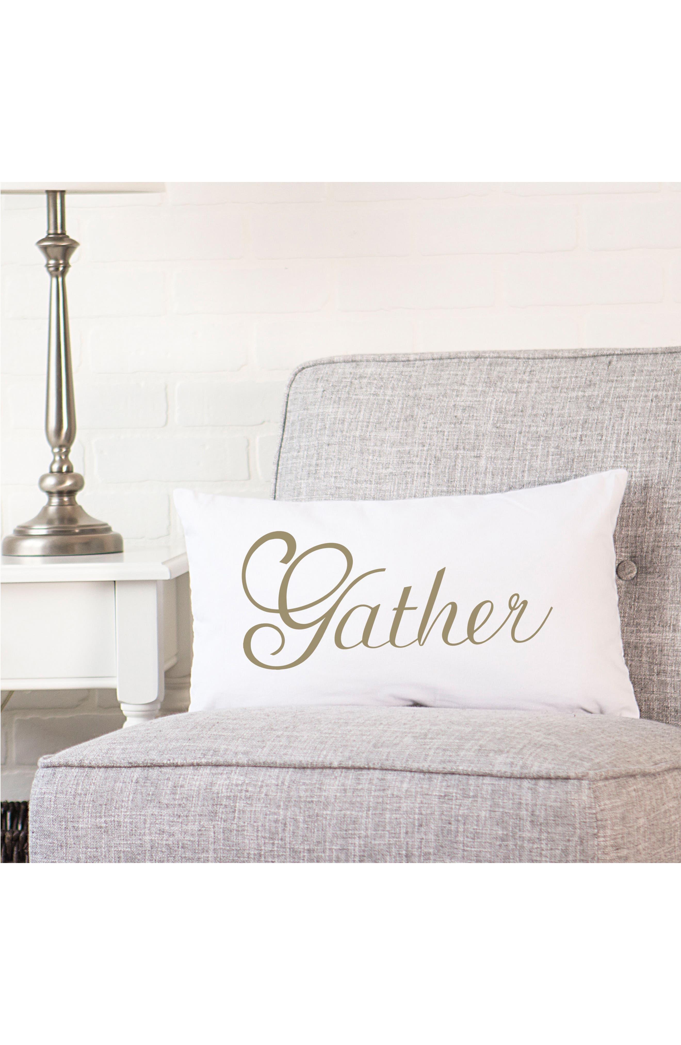 Gather Lumbar Accent Pillow,                             Alternate thumbnail 3, color,                             710