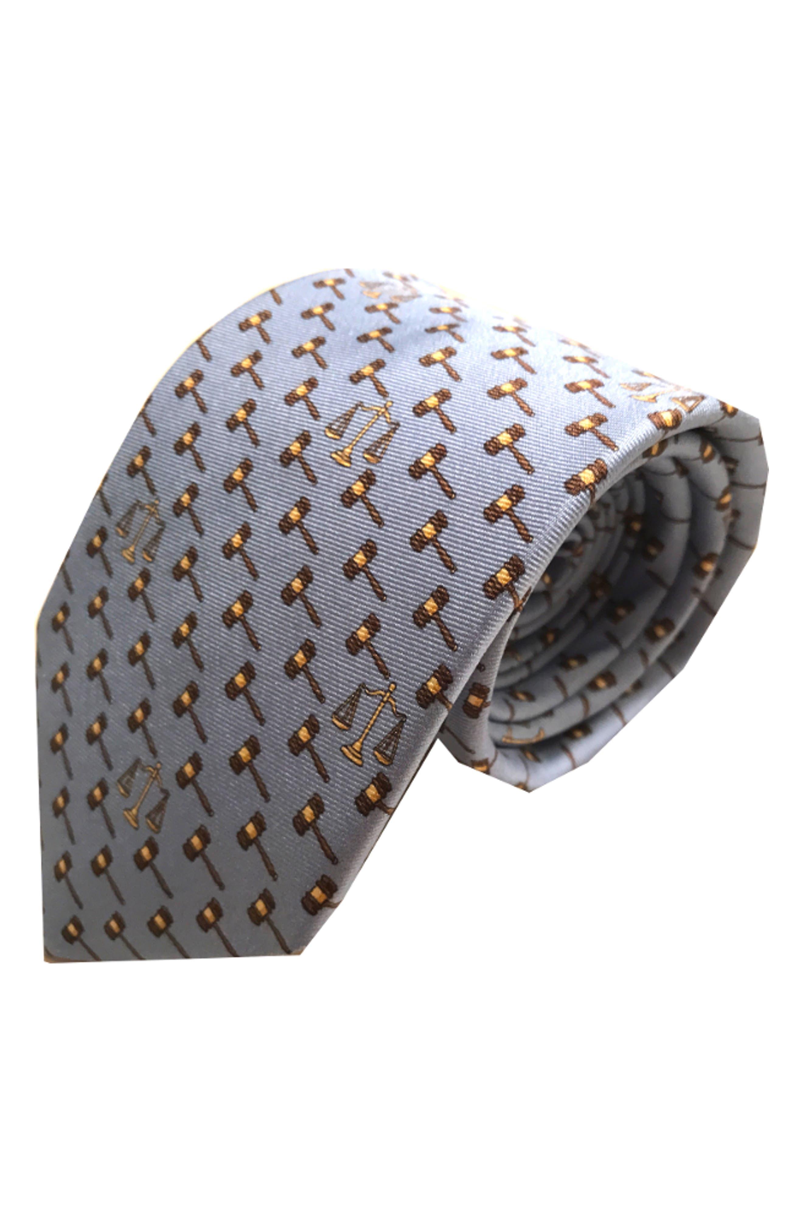 Lawyer Silk Tie,                             Main thumbnail 1, color,                             LIGHT BLUE
