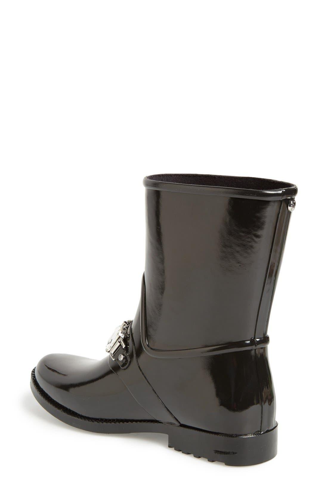 'Leslie' Rain Boot,                             Alternate thumbnail 4, color,                             001