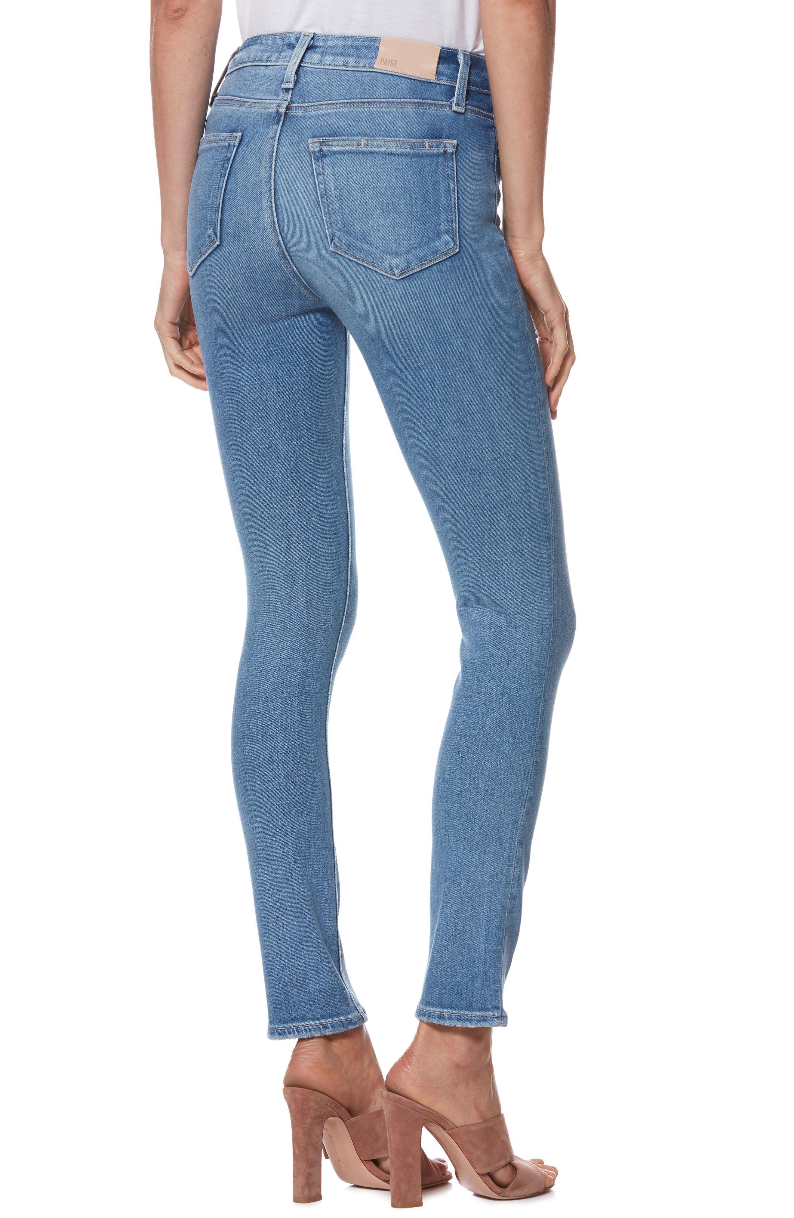 Hoxton High Waist Ankle Peg Jeans,                             Alternate thumbnail 2, color,                             KAYSON DISTRESSED