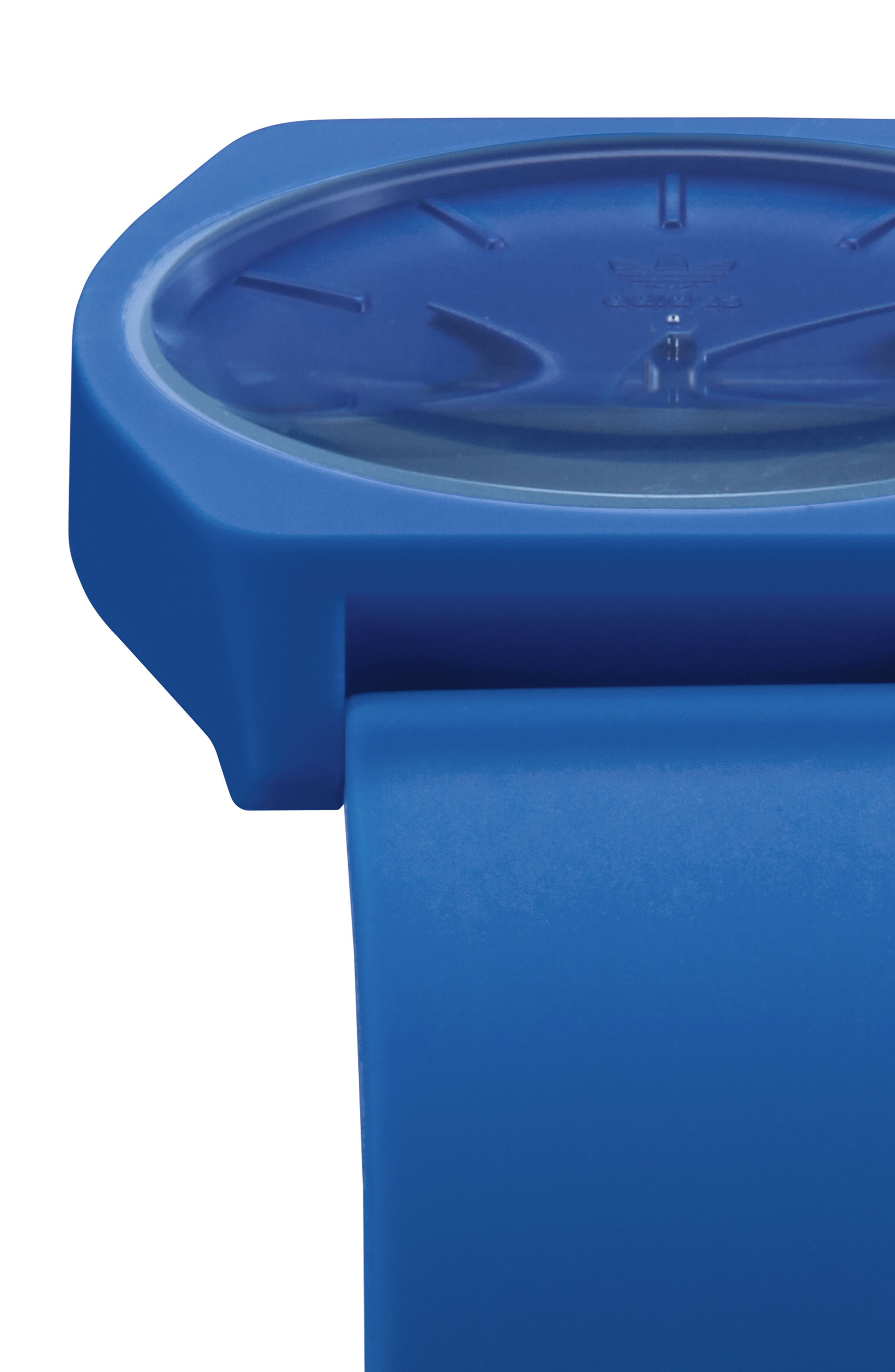 Process Silicone Strap Watch, 38mm,                             Alternate thumbnail 5, color,                             BLUE