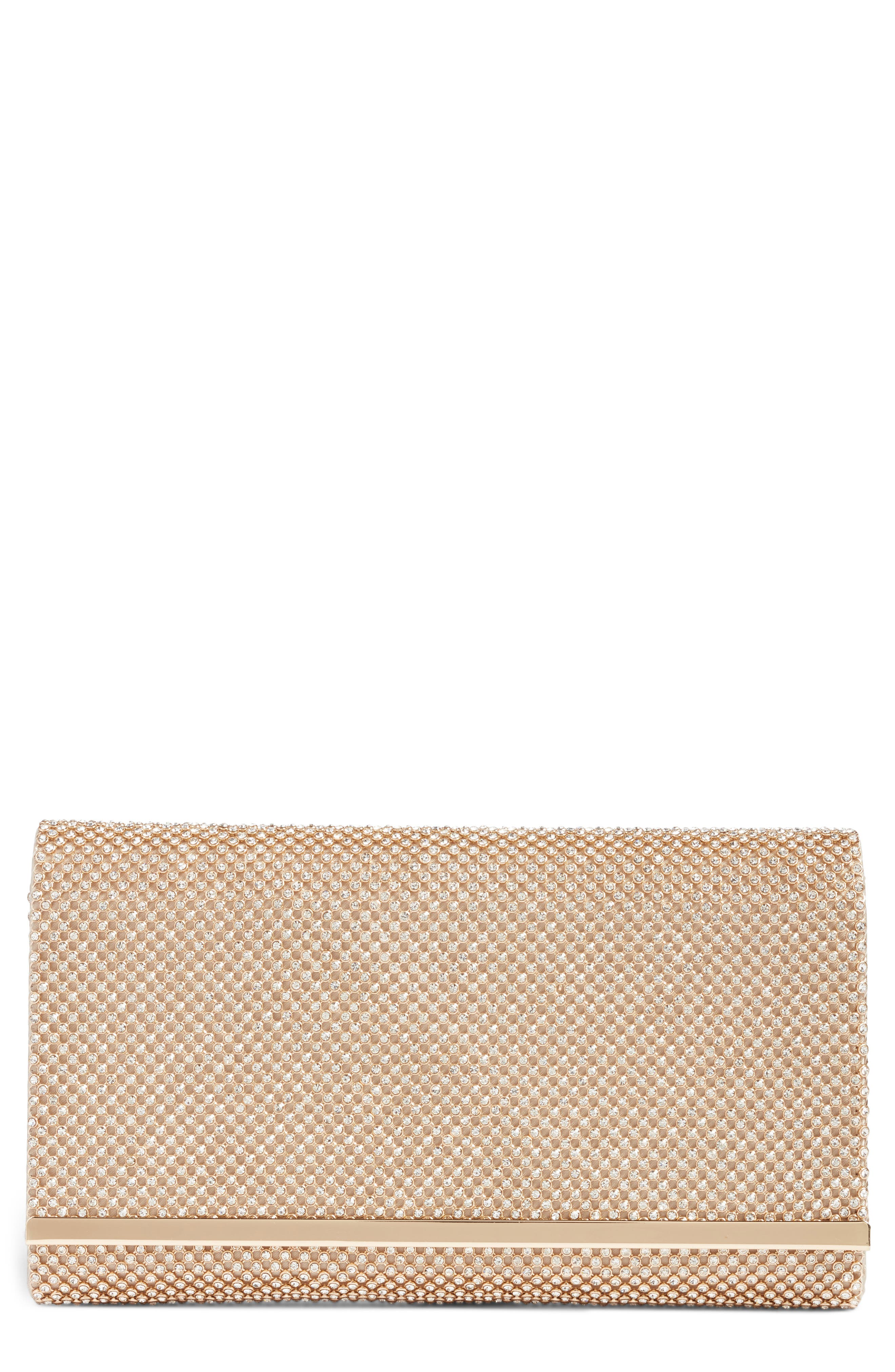 NORDSTROM,                             Crystal Mesh Bar Clutch,                             Main thumbnail 1, color,                             GOLD