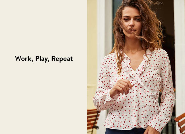 Work, play, repeat: women's tops.