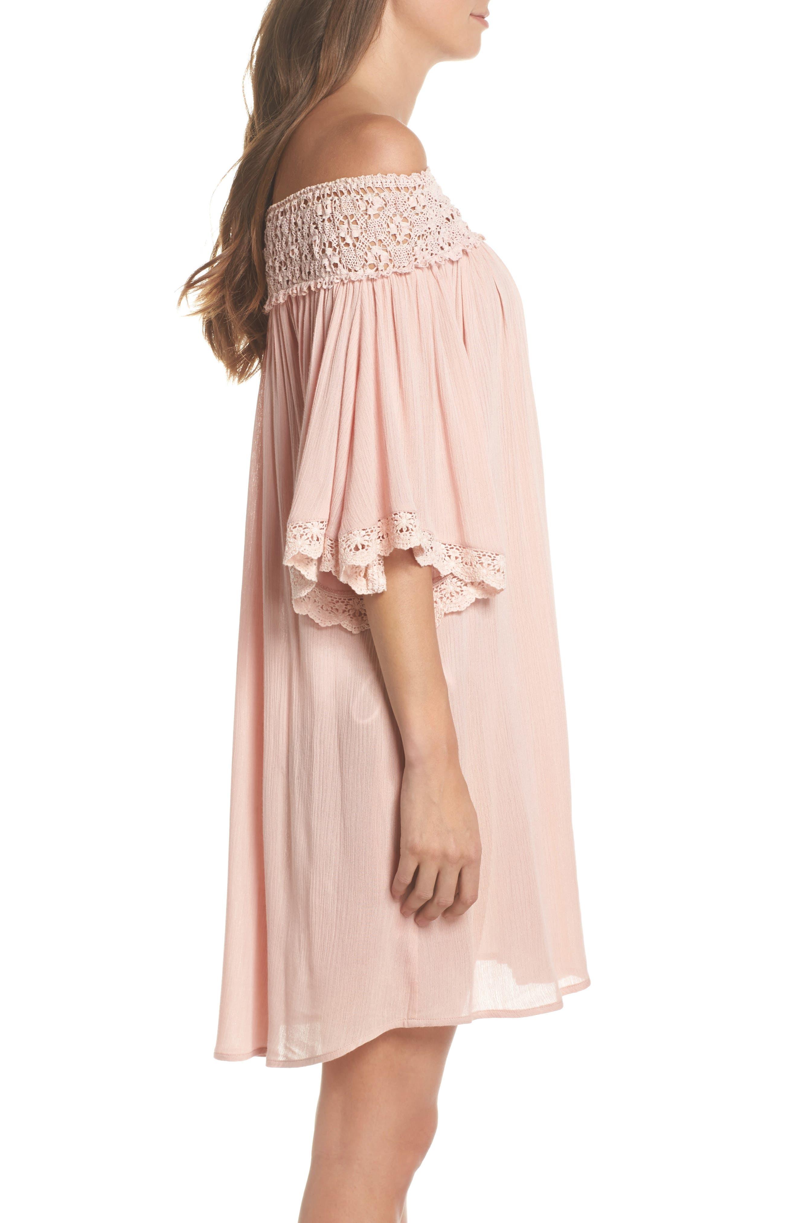 Rimini Crochet Cover-Up Dress,                             Alternate thumbnail 6, color,
