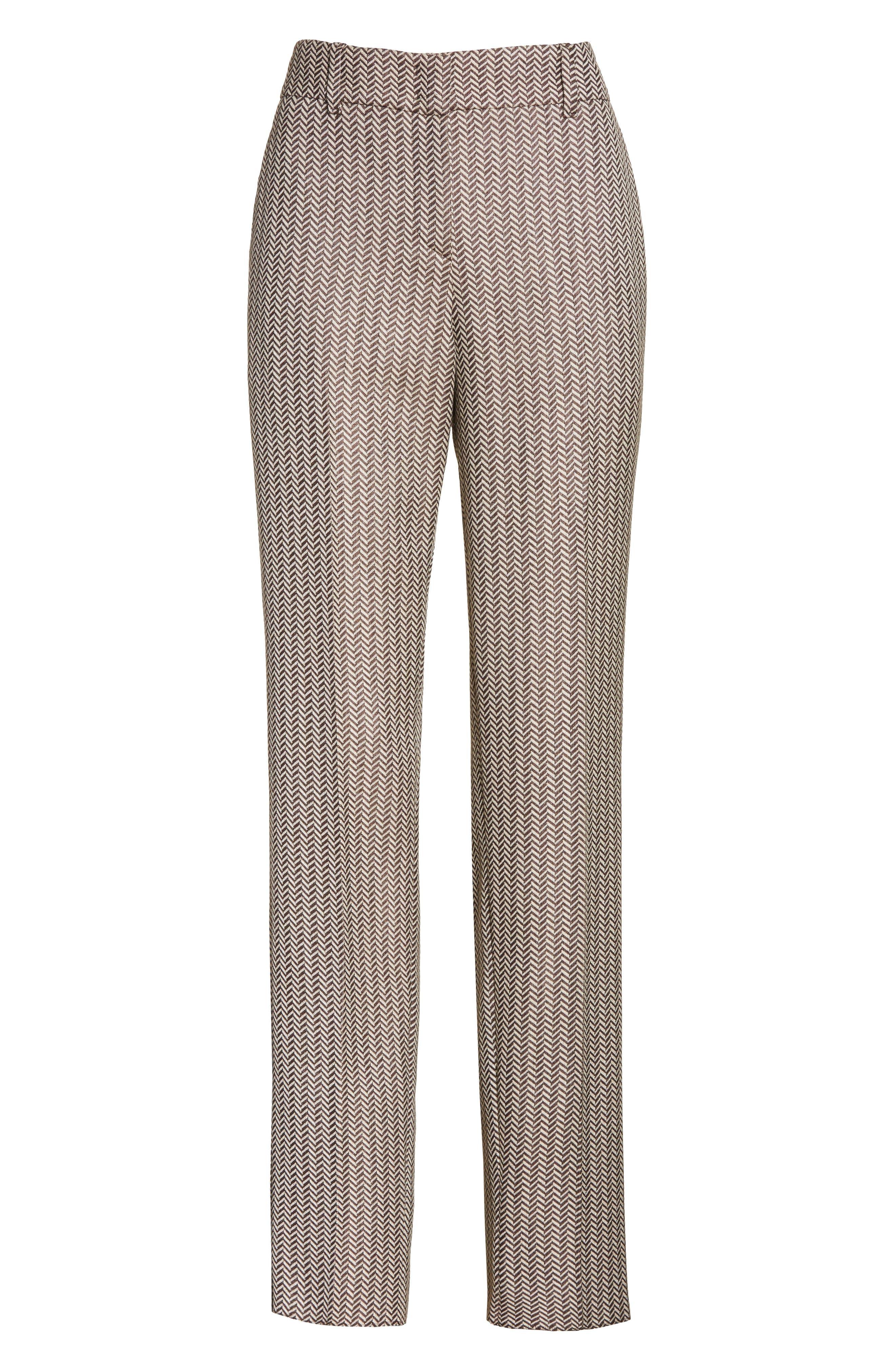 Herringbone Slim Pants,                             Alternate thumbnail 6, color,                             250