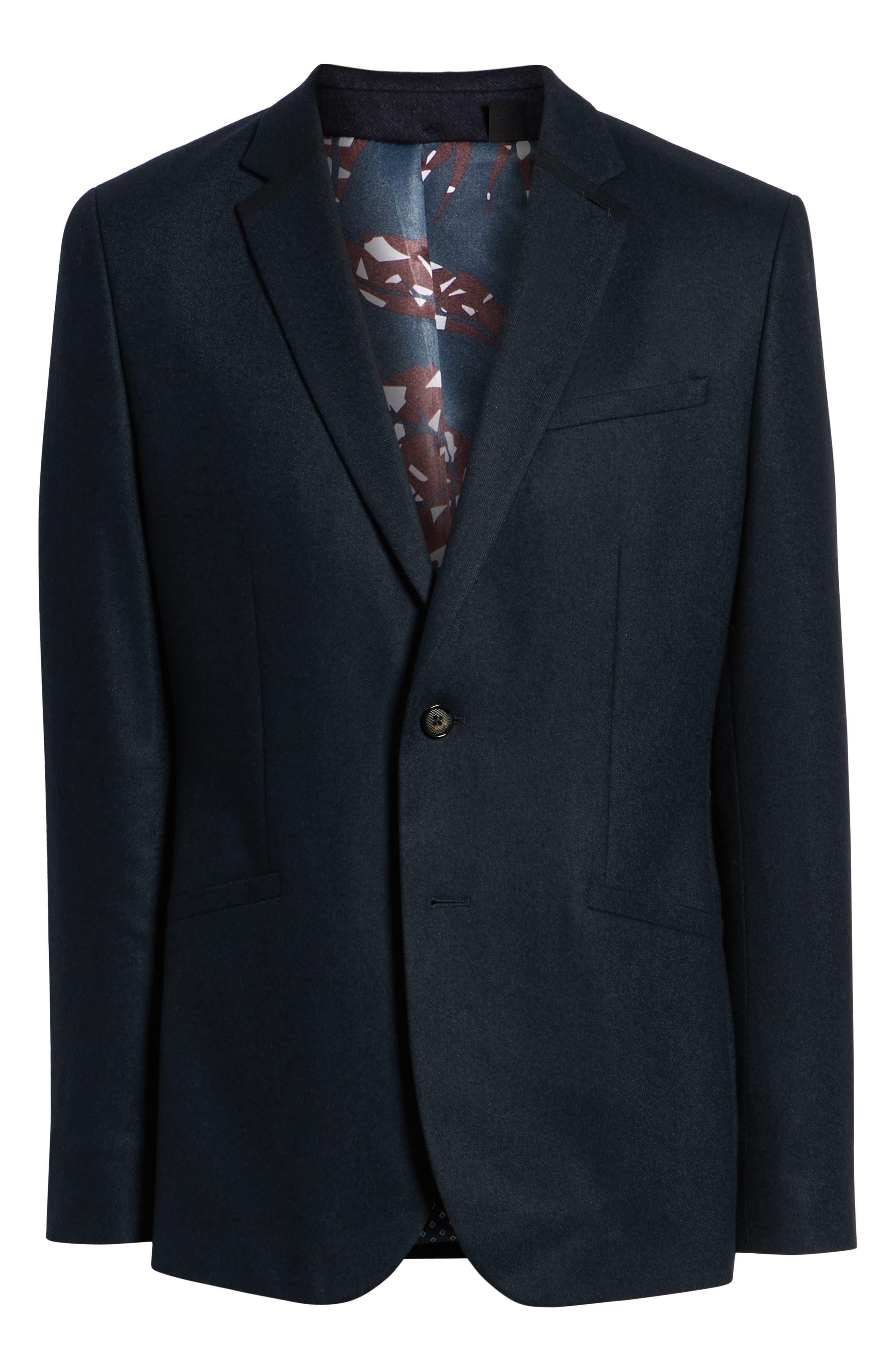 Matza Wool Blend Sport Coat,                             Alternate thumbnail 5, color,                             NAVY