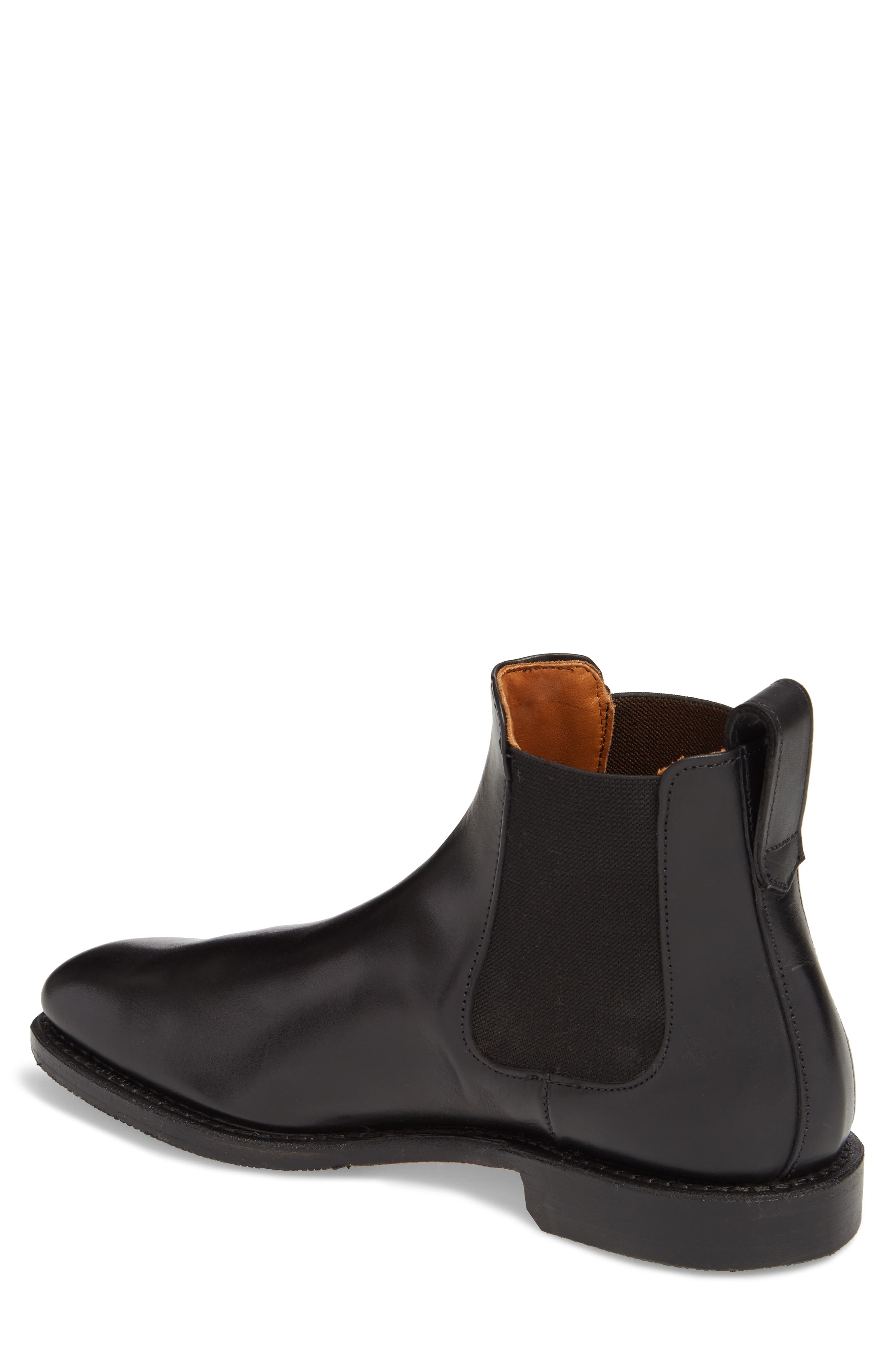 'Liverpool' Chelsea Boot,                             Alternate thumbnail 2, color,                             BLACK LEATHER