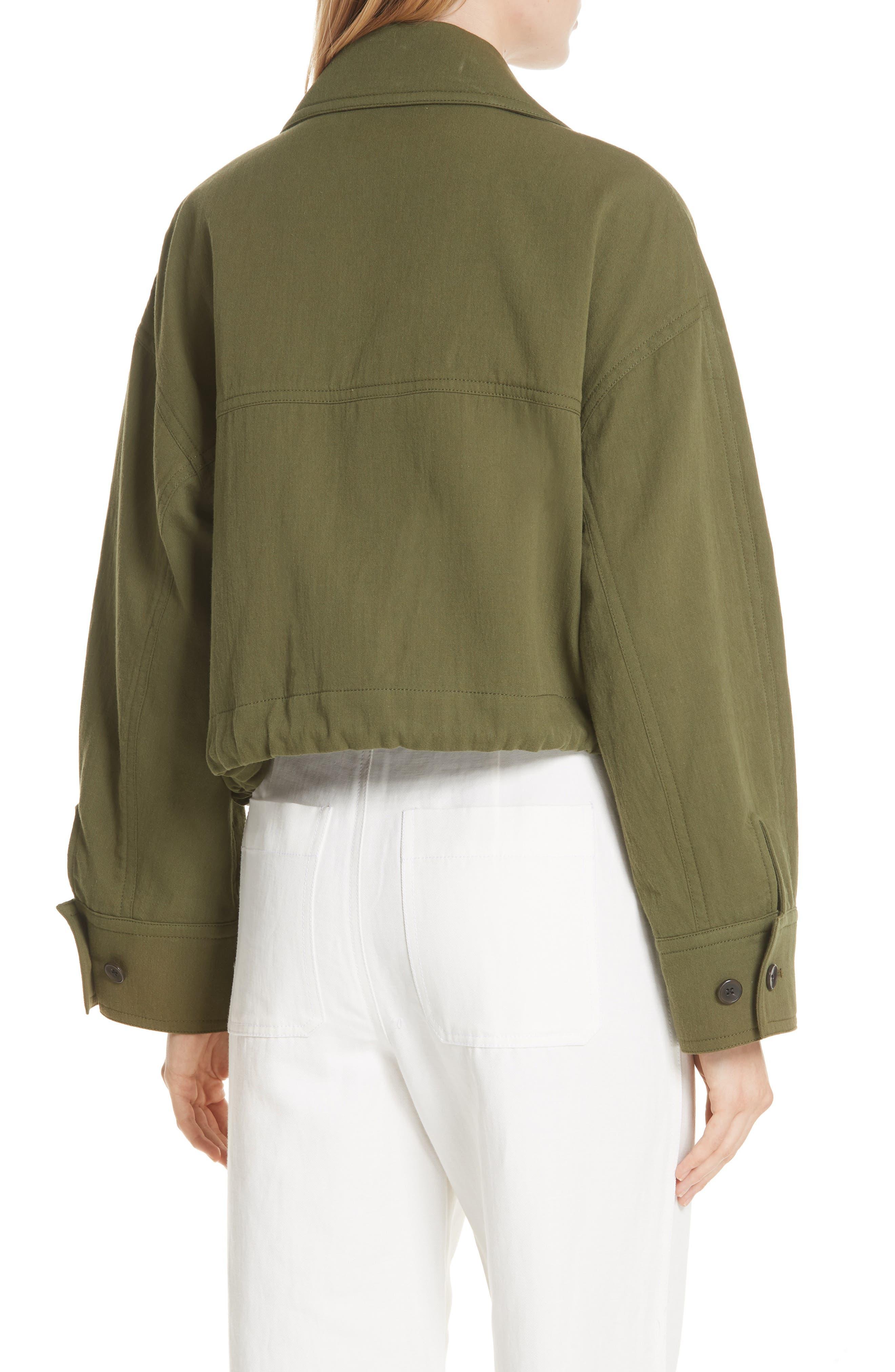VINCE,                             Drawstring Crop Cotton Jacket,                             Alternate thumbnail 2, color,                             315