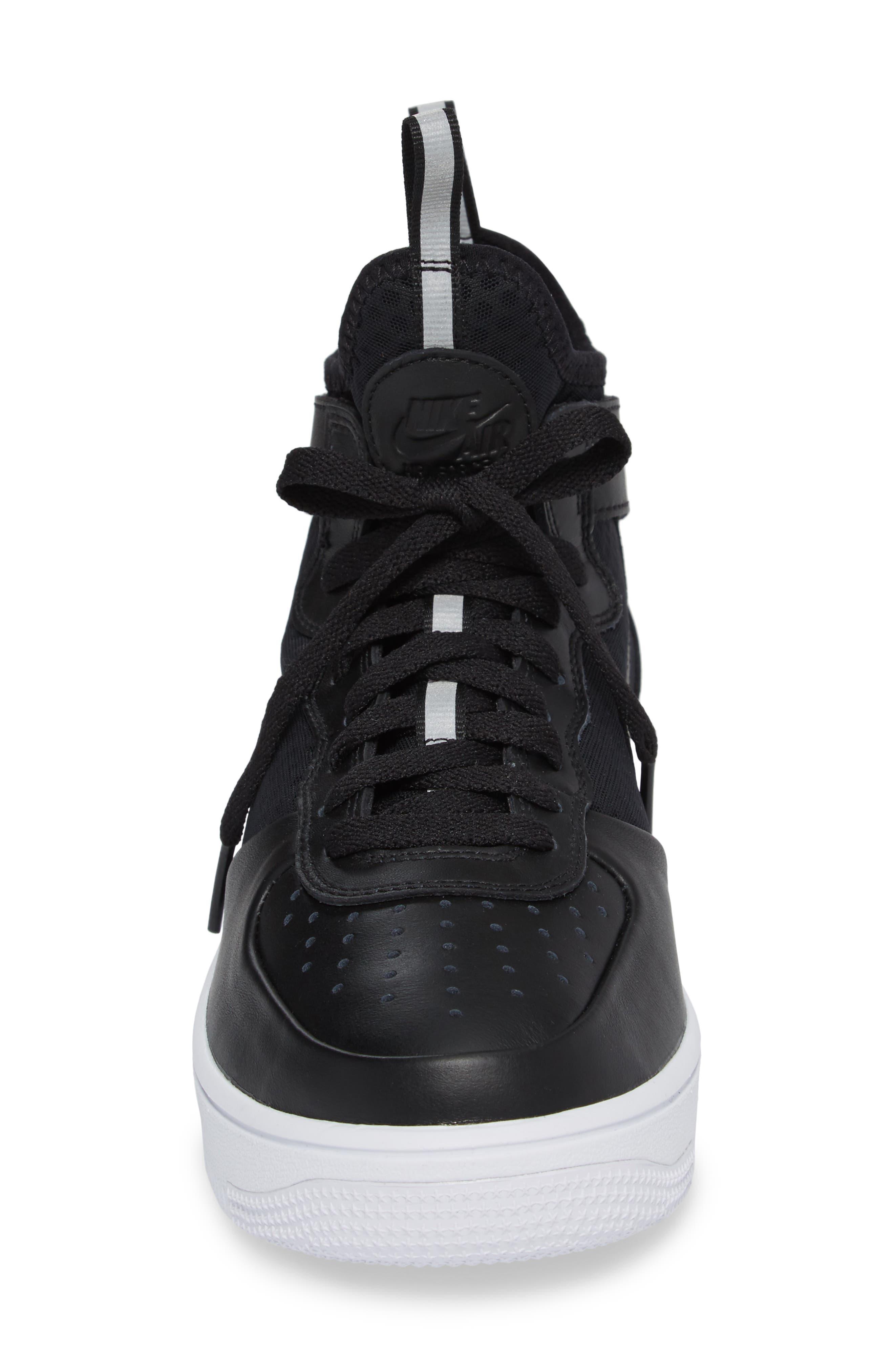 Air Force 1 Ultraforce Mid Sneaker,                             Alternate thumbnail 4, color,                             001