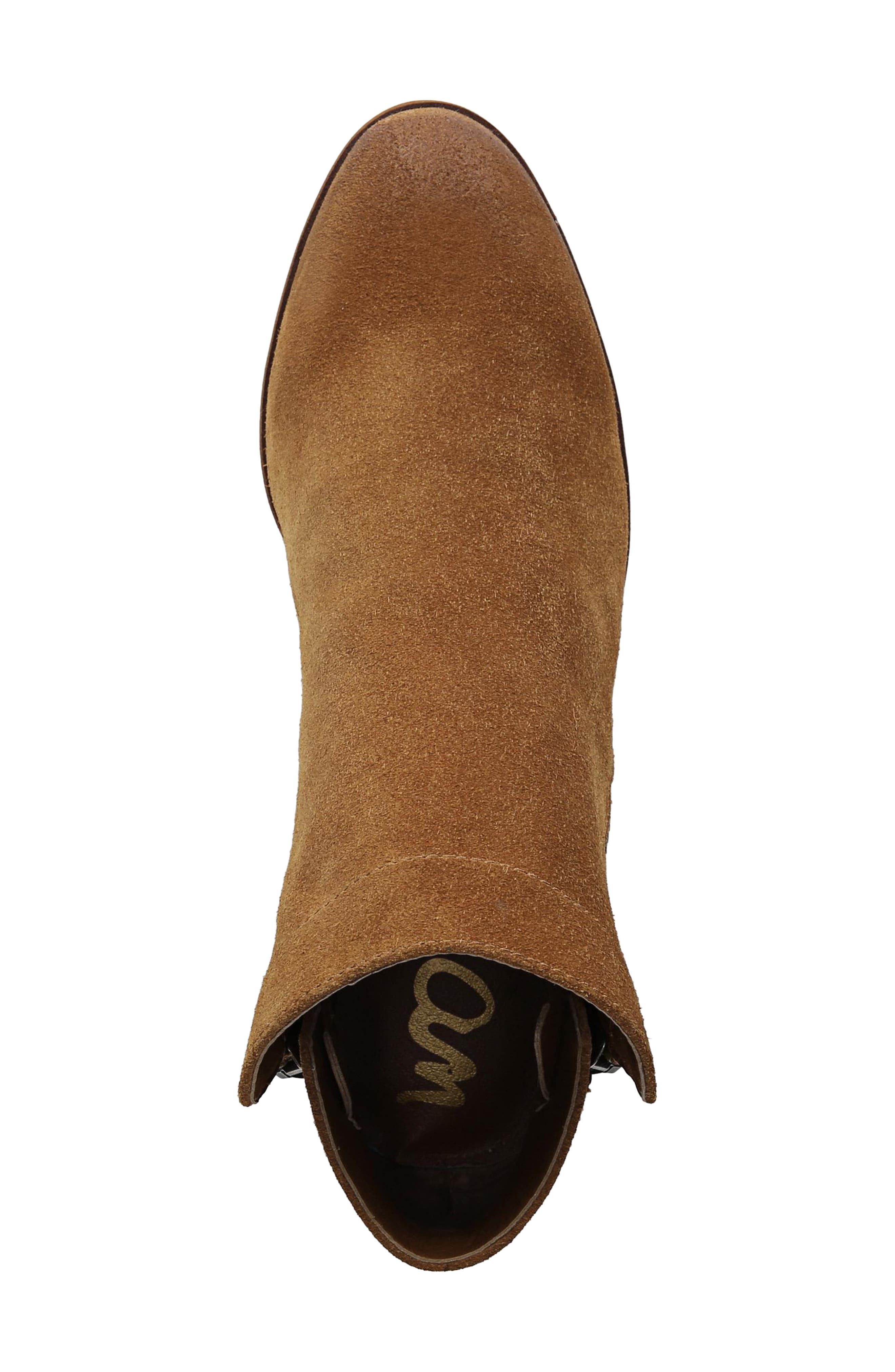 Packer Bootie,                             Alternate thumbnail 5, color,                             LUGGAGE SUEDE LEATHER