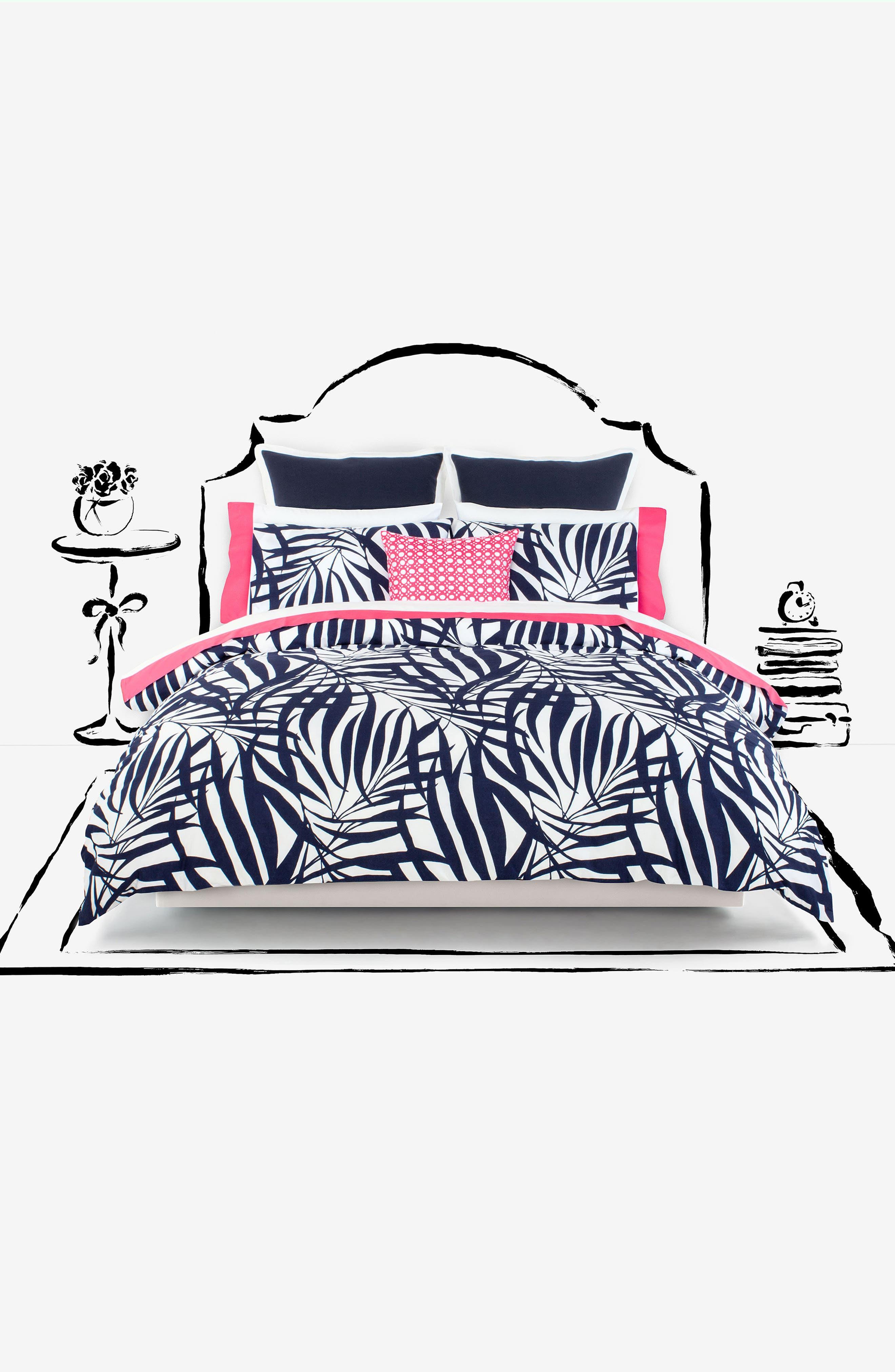 palm comforter & sham set,                             Alternate thumbnail 4, color,                             400