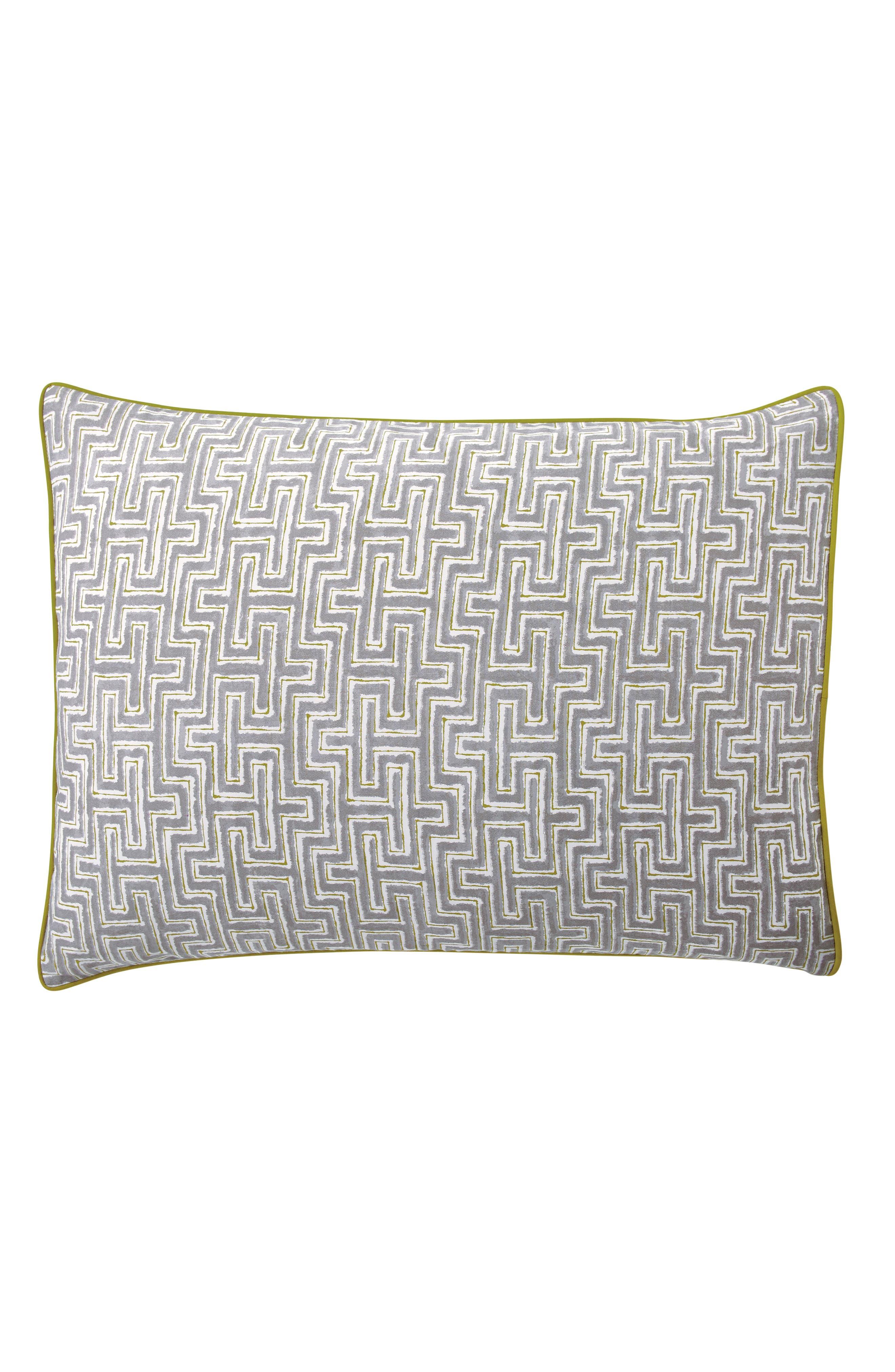 BEDECK,                             Koba Comforter, Sham & Accent Pillow Set,                             Alternate thumbnail 8, color,                             LIGHT GREY