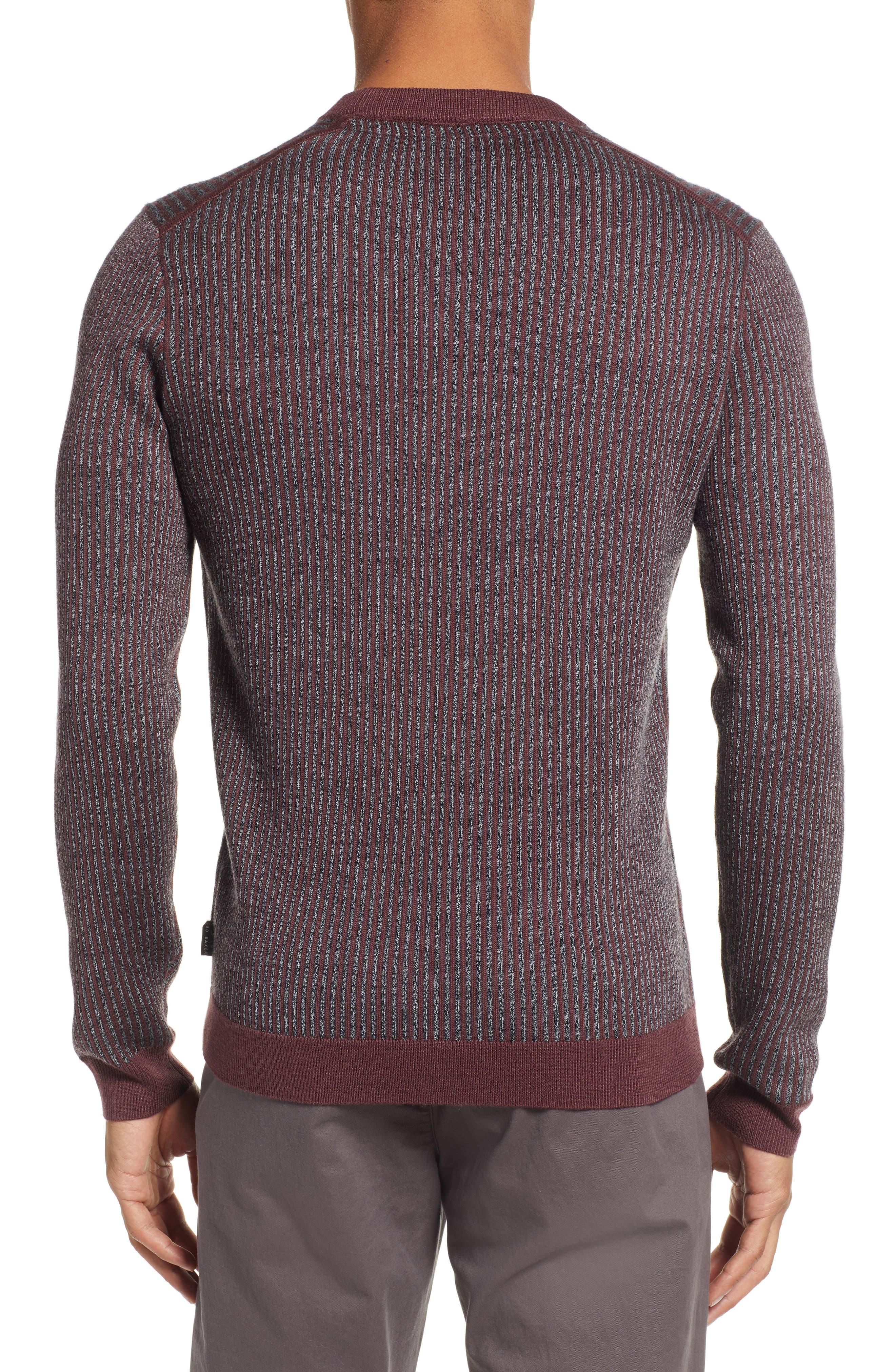 Jinxitt Crewneck Sweater,                             Alternate thumbnail 2, color,                             DEEP-PINK