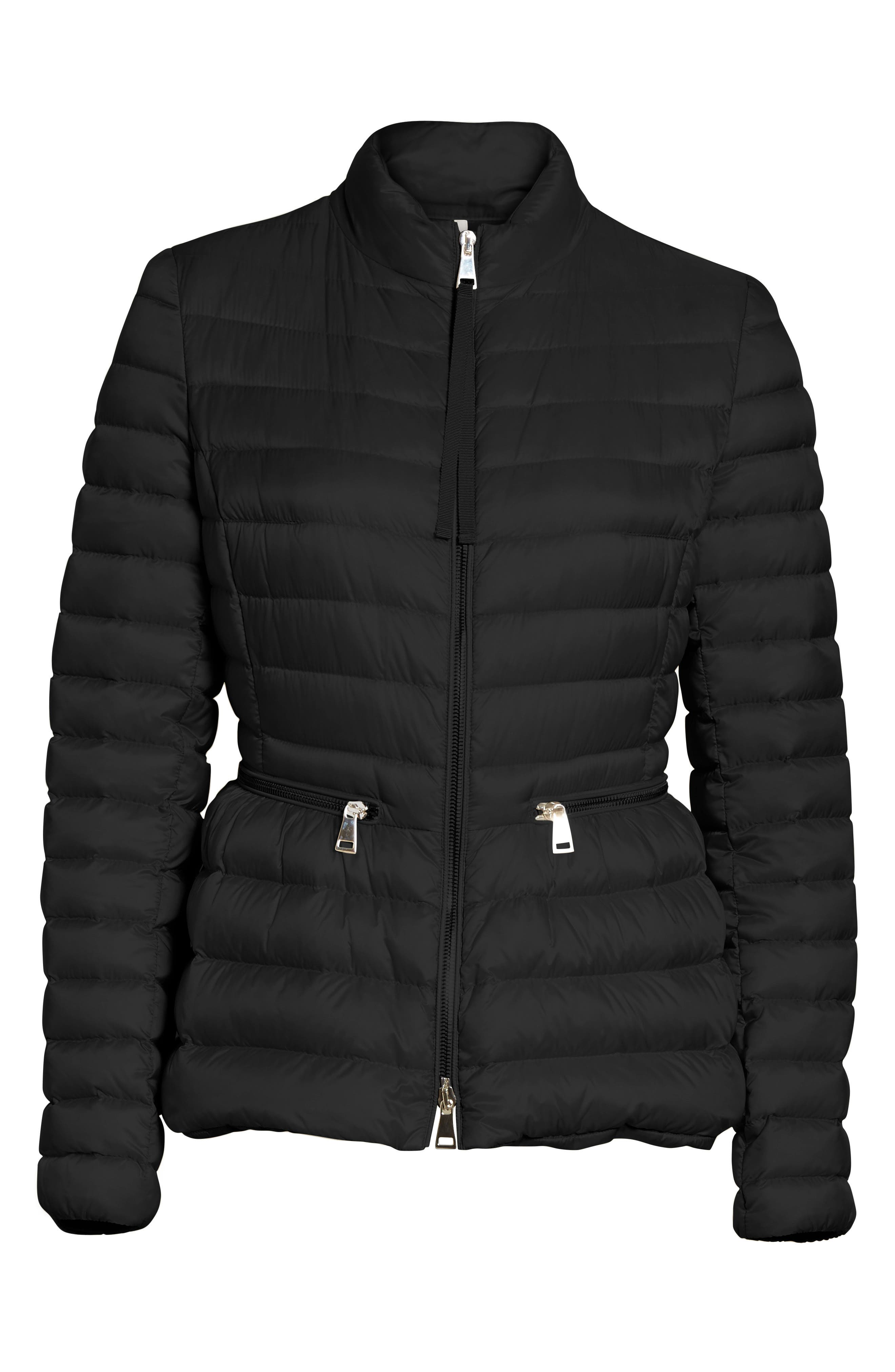 MONCLER,                             Agate Quilted Puffer Jacket,                             Alternate thumbnail 5, color,                             001