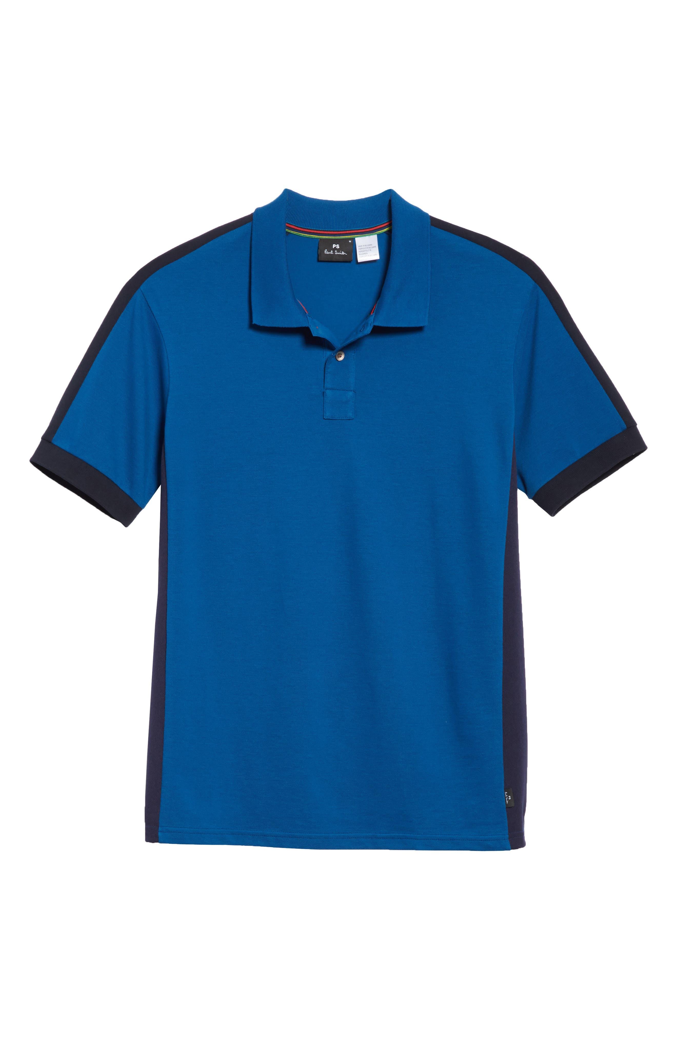 Colorblock Jersey Polo,                             Alternate thumbnail 6, color,                             434
