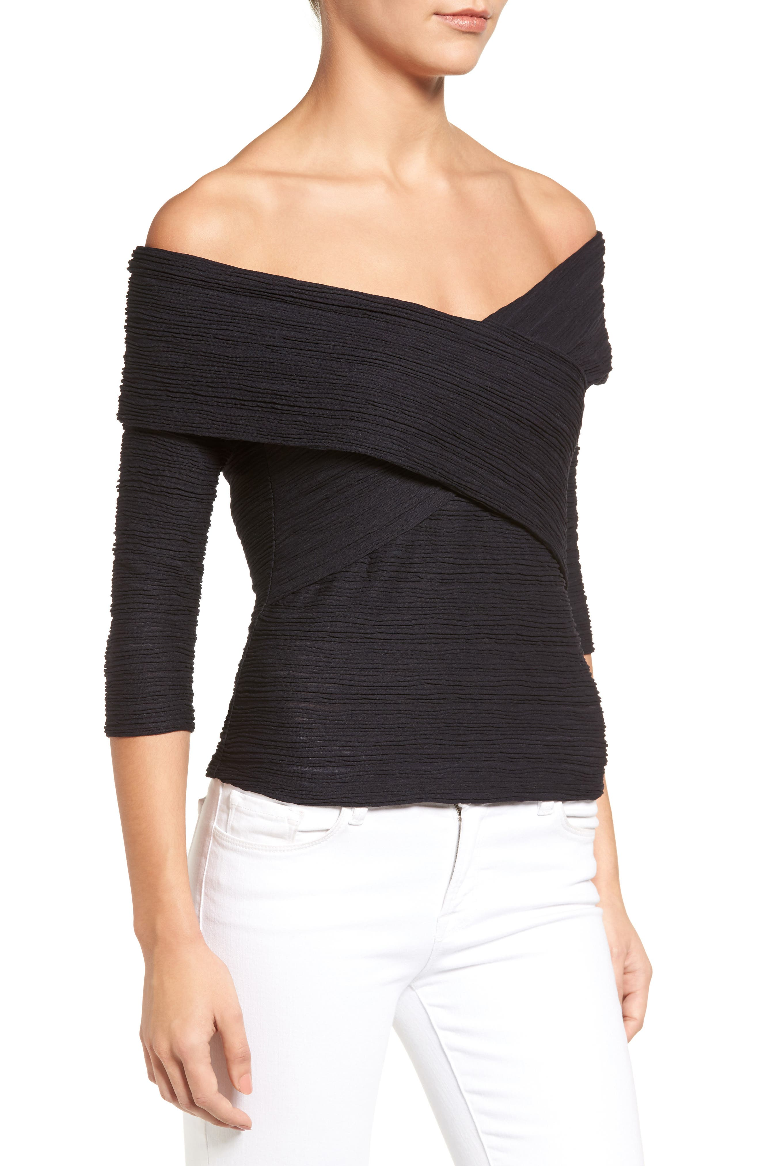 Crossover Stripe Top,                             Alternate thumbnail 8, color,