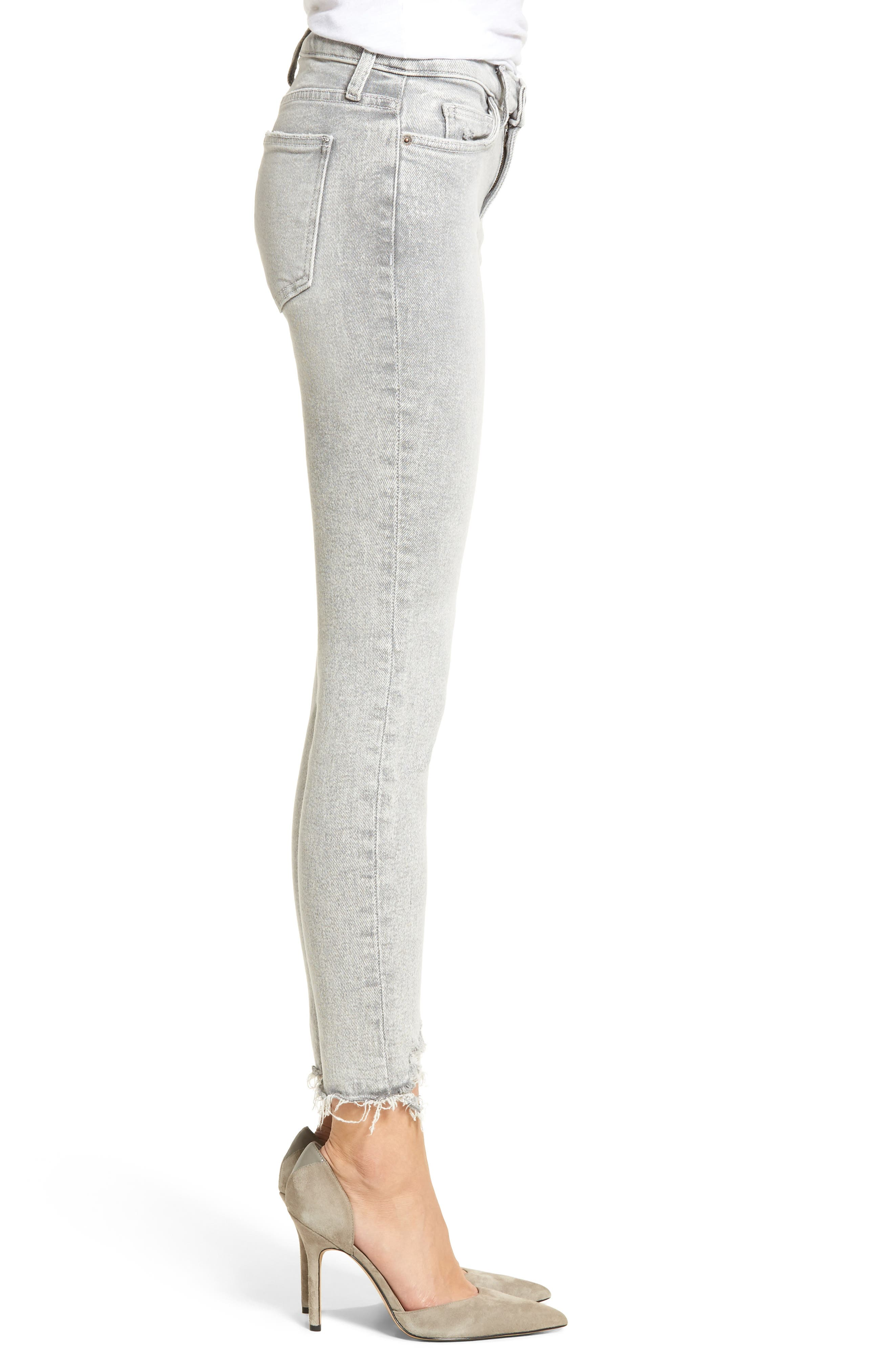 The Stiletto High Waist Ankle Skinny Jeans,                             Alternate thumbnail 3, color,