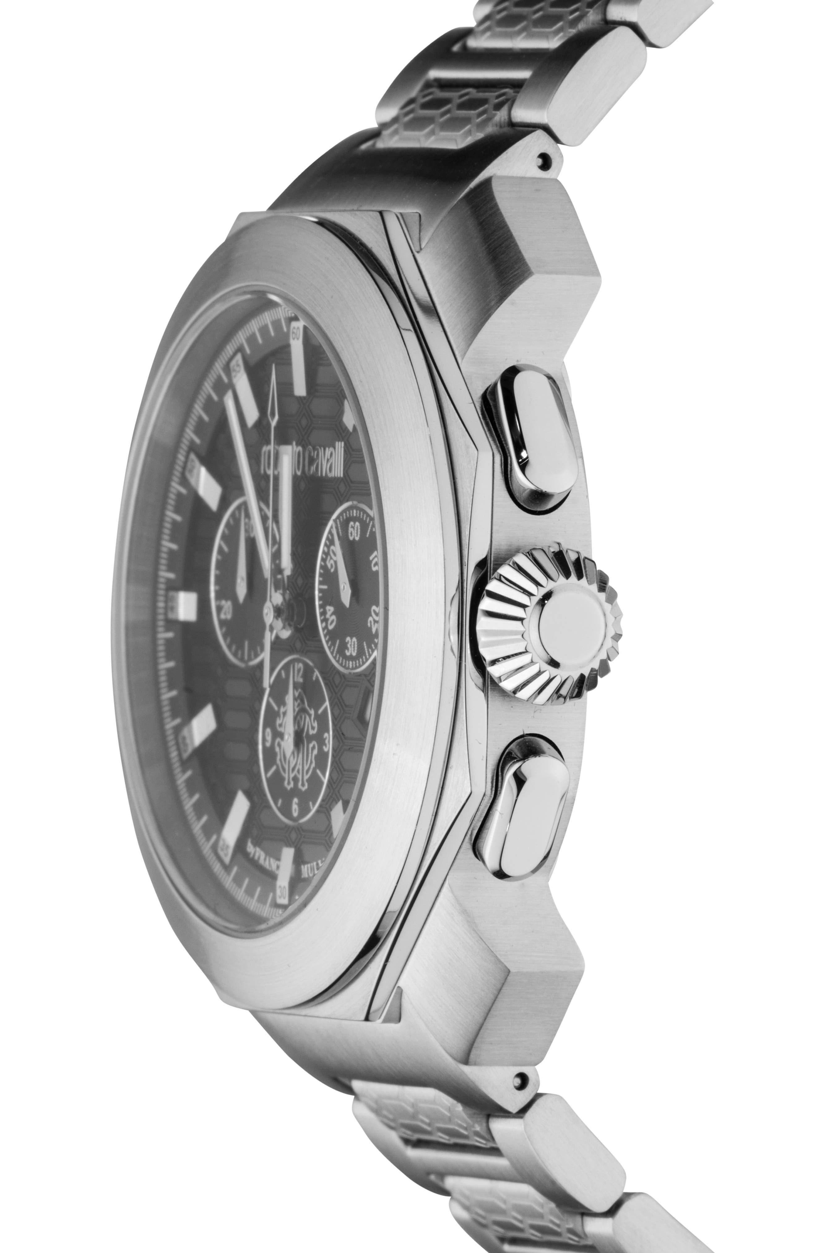 Sport Classic Chronograph Bracelet Watch,                             Alternate thumbnail 2, color,                             SILVER/ BLACK