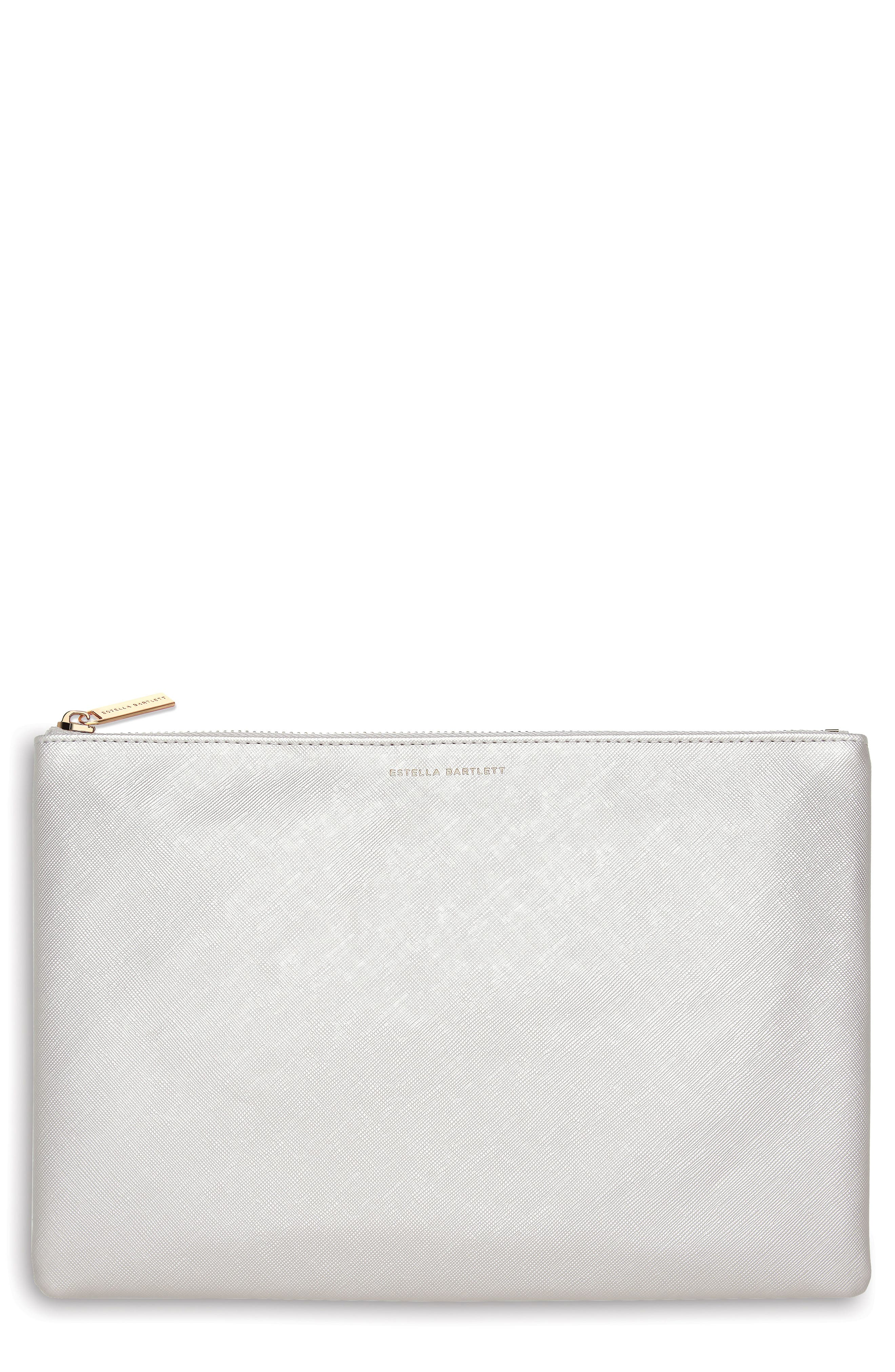 No Reason Not To Follow Faux Leather Pouch,                         Main,                         color, 040