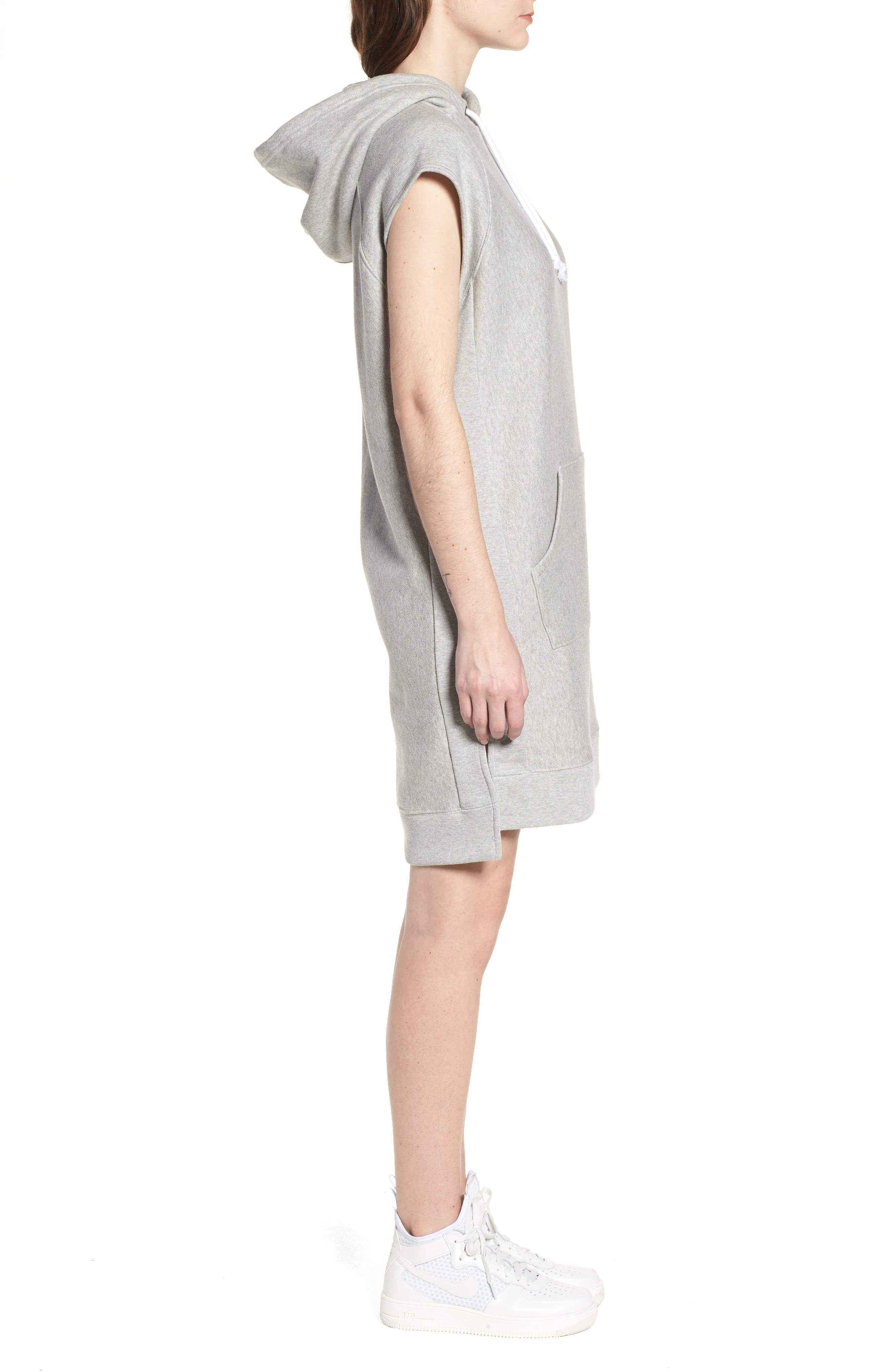 Hoodie Dress,                             Alternate thumbnail 3, color,                             021