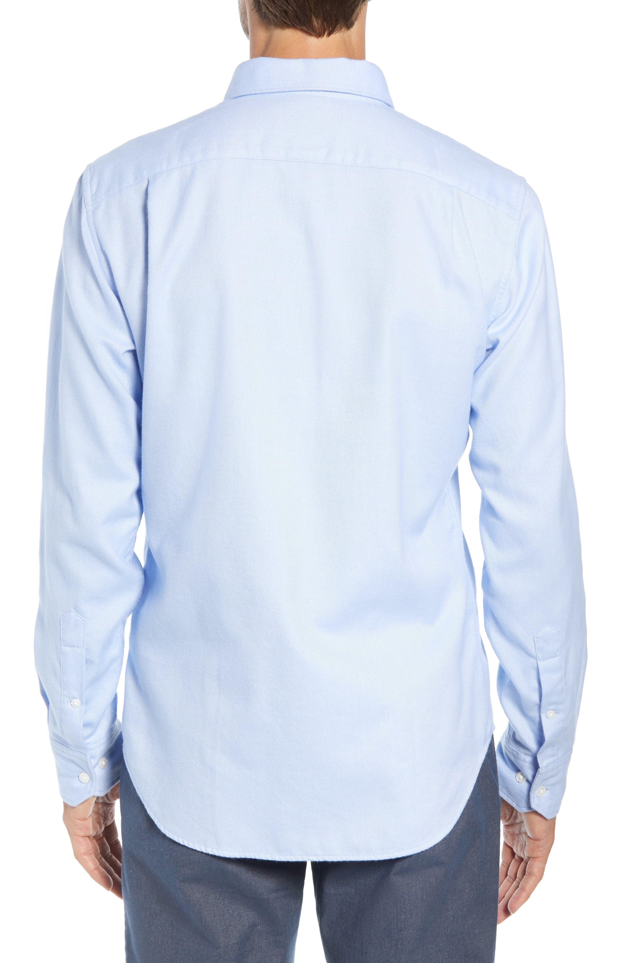 Unbutton Slim Fit Sport Shirt,                             Alternate thumbnail 3, color,                             400
