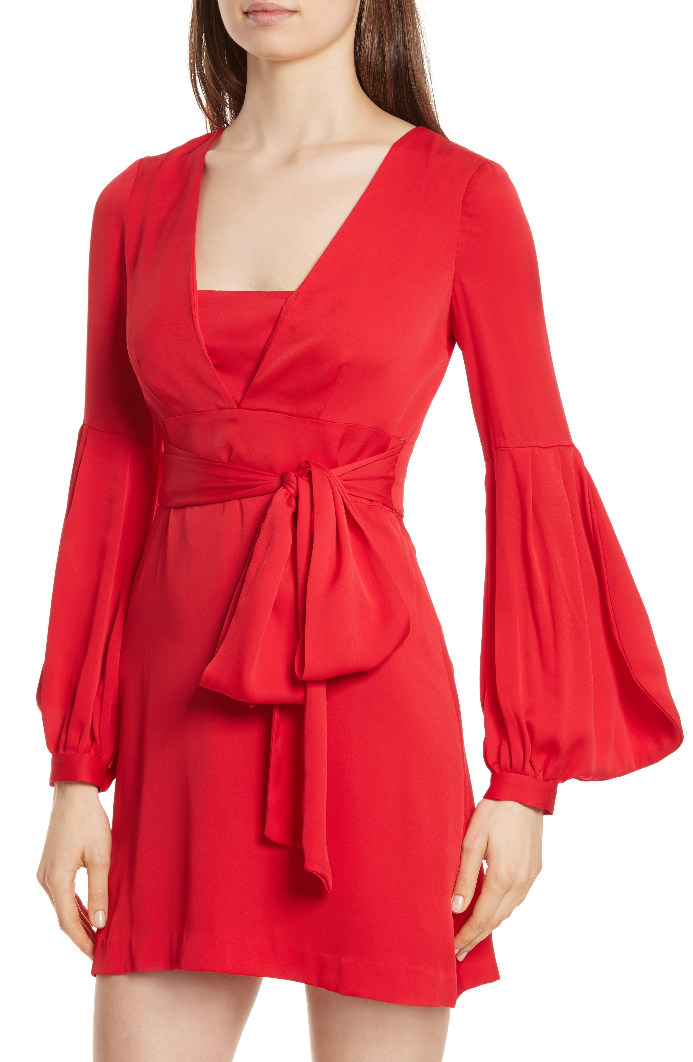Kayla Deep V-Neck Stretch Silk Dress,                             Alternate thumbnail 6, color,                             609