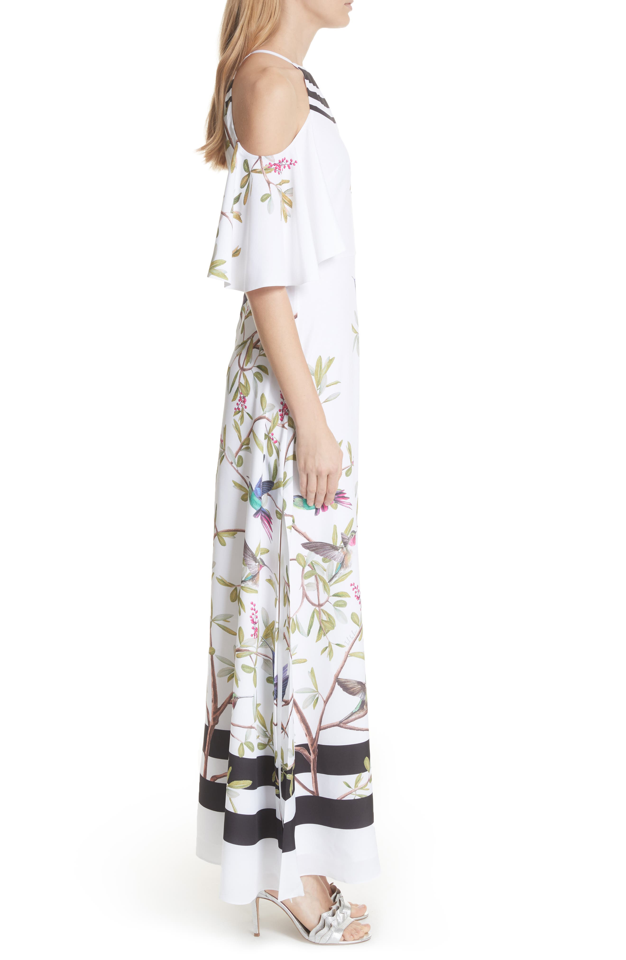 Highgrove Cold Shoulder Maxi Dress,                             Alternate thumbnail 3, color,                             110