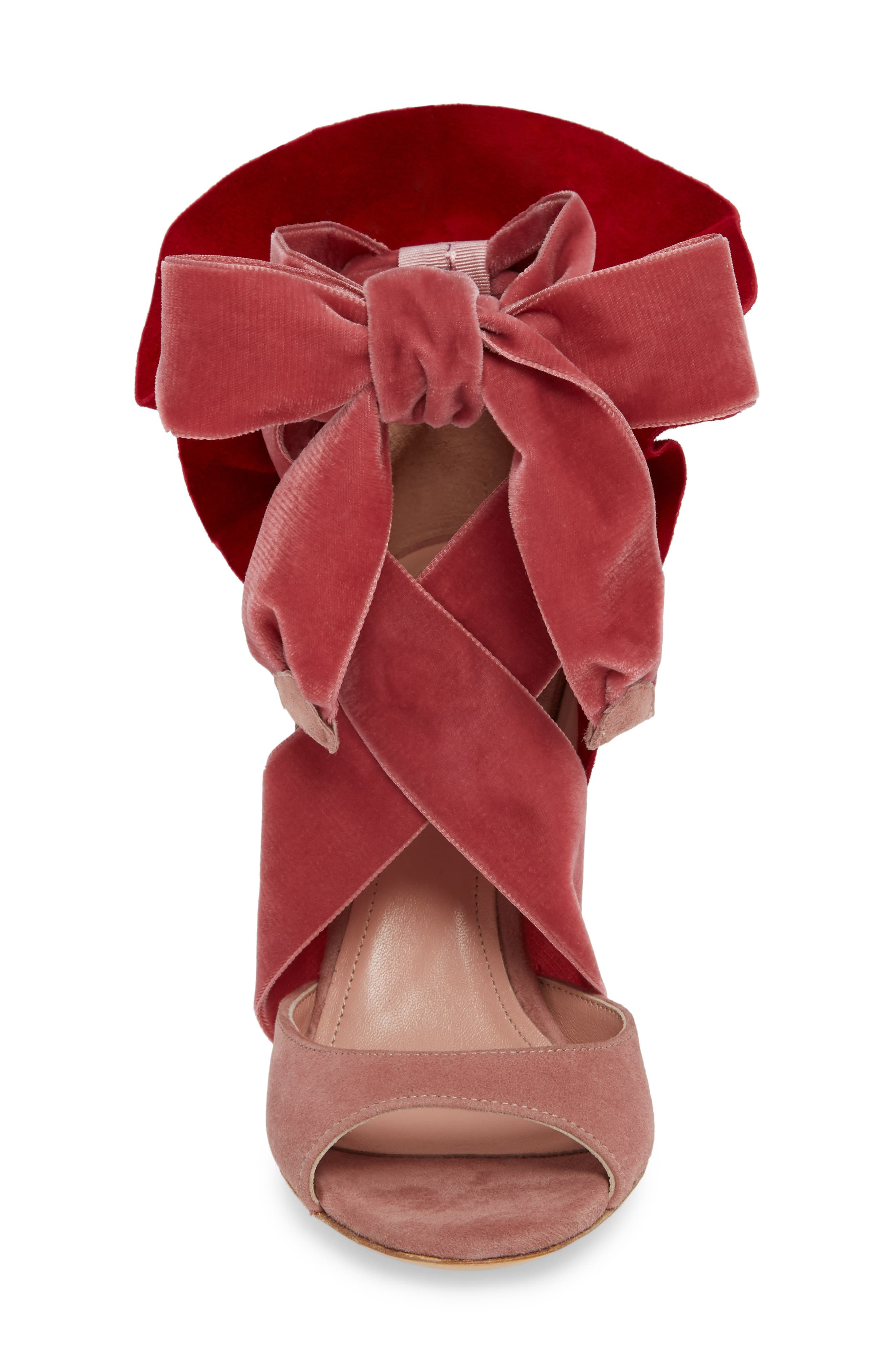 Frills For All Sandal,                             Alternate thumbnail 4, color,                             ROSE/ RED
