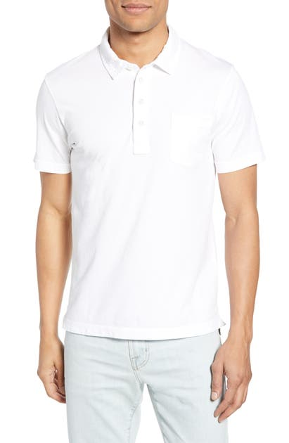 Billy Reid Tops PENSACOLA SLIM FIT GARMENT DYE POLO