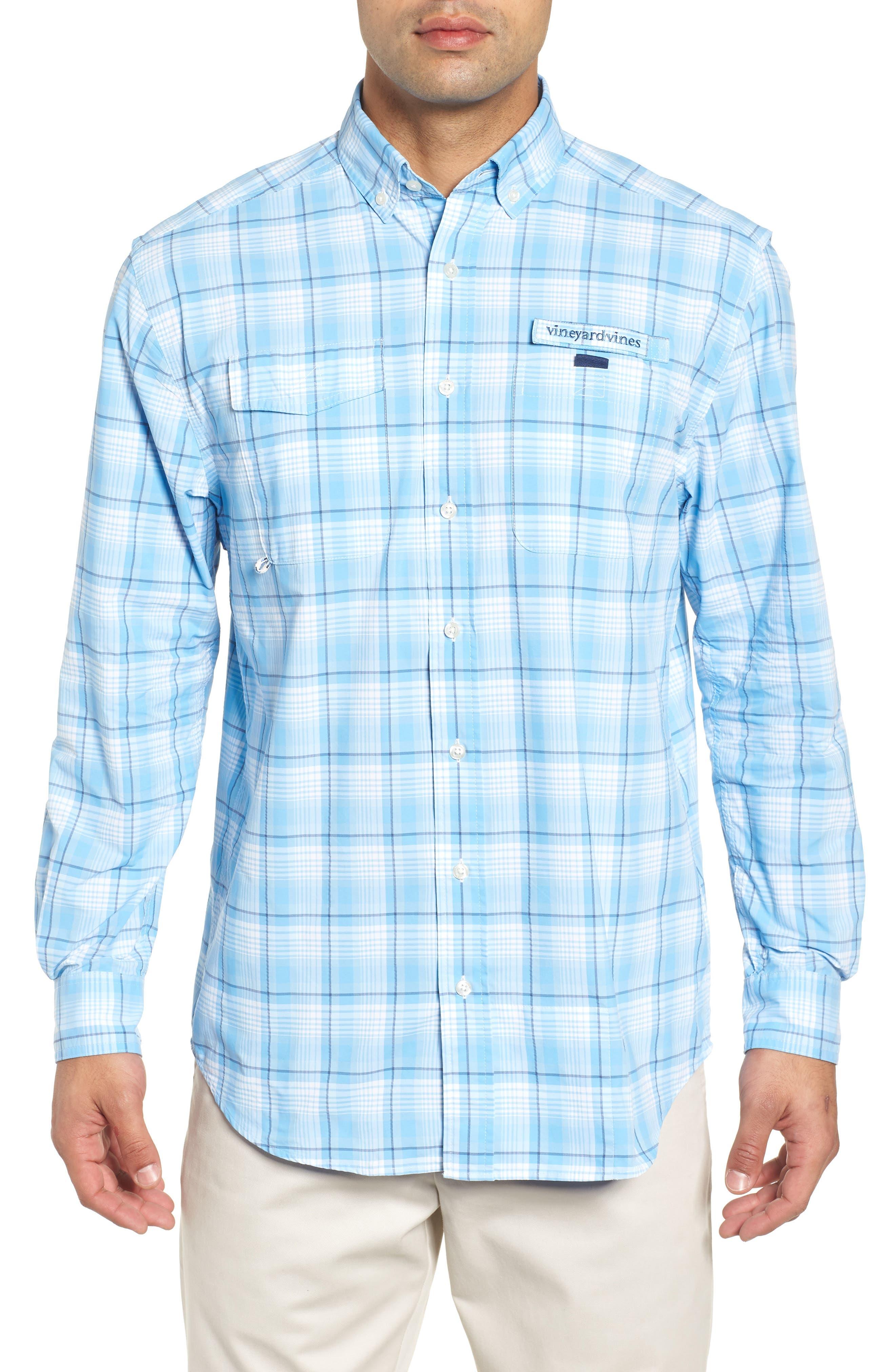 Mariners Way Harbor Regular Fit Performance Sport Shirt,                         Main,                         color, 456