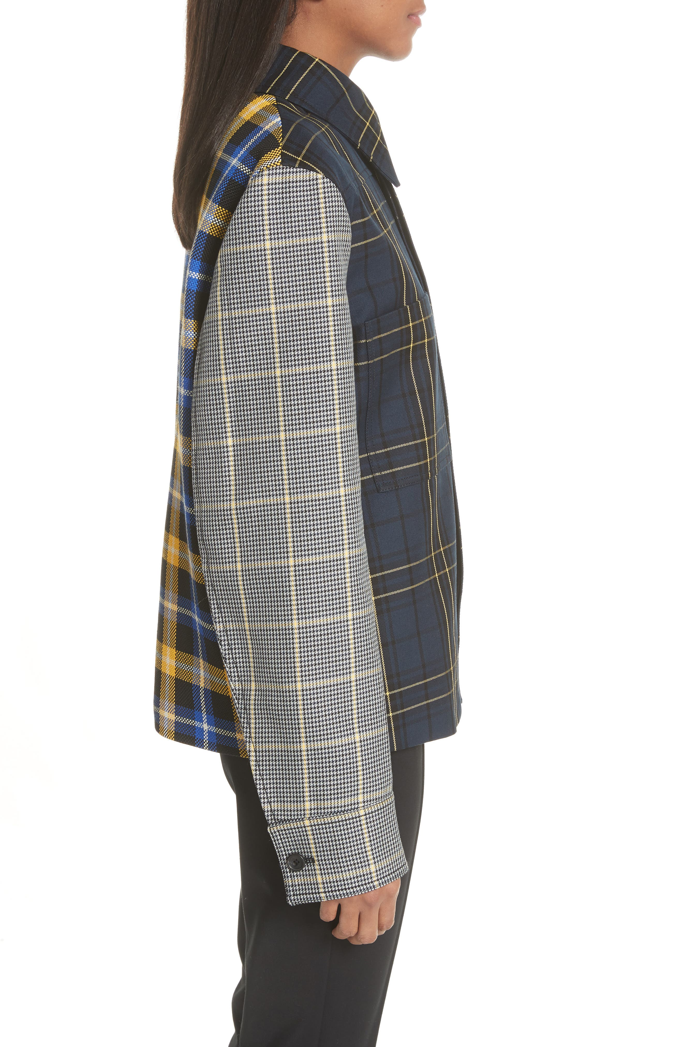 Coen Check Patchwork Jacket,                             Alternate thumbnail 3, color,