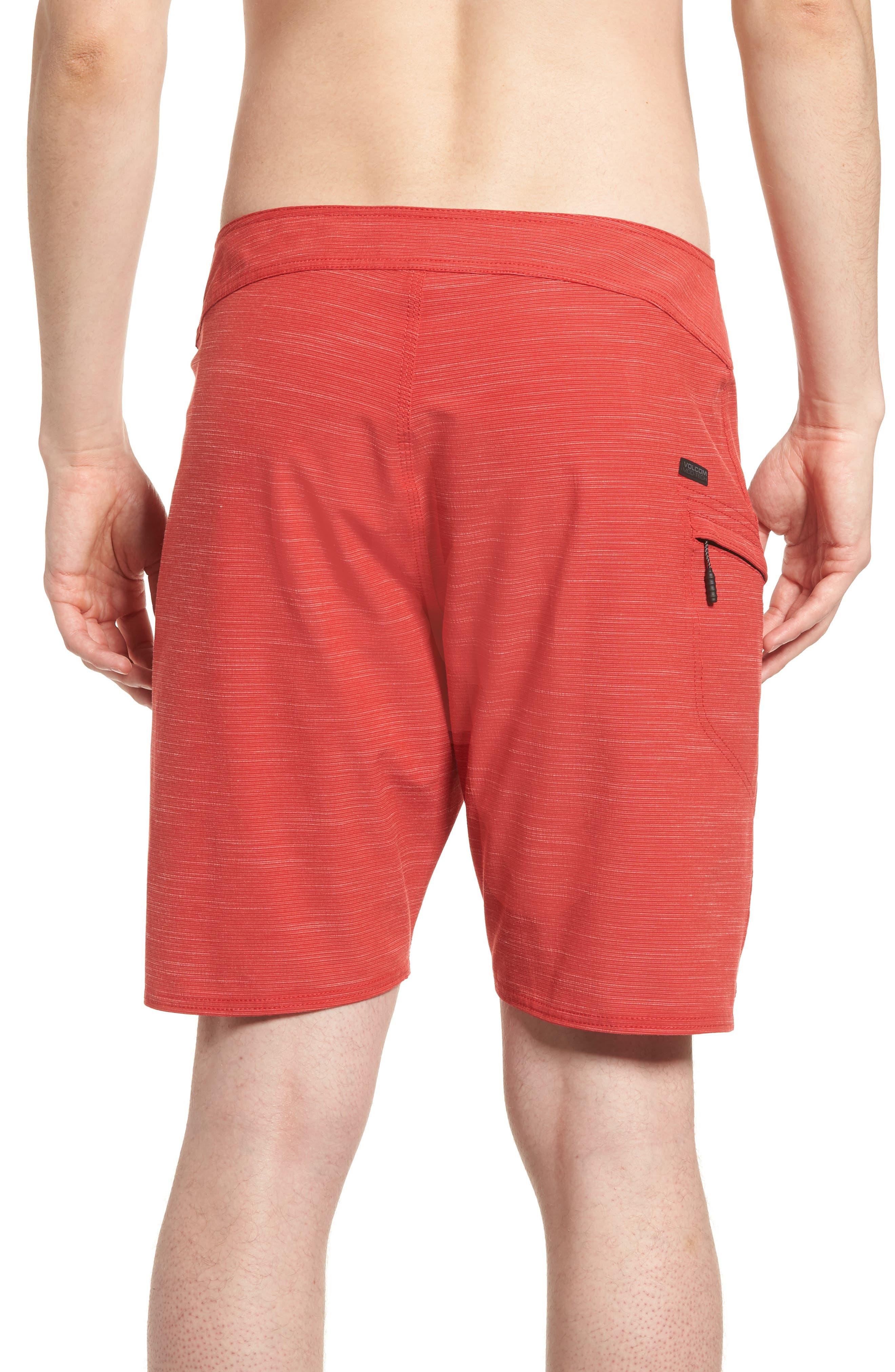 Lido Slub Modern Board Shorts,                             Alternate thumbnail 2, color,                             RED