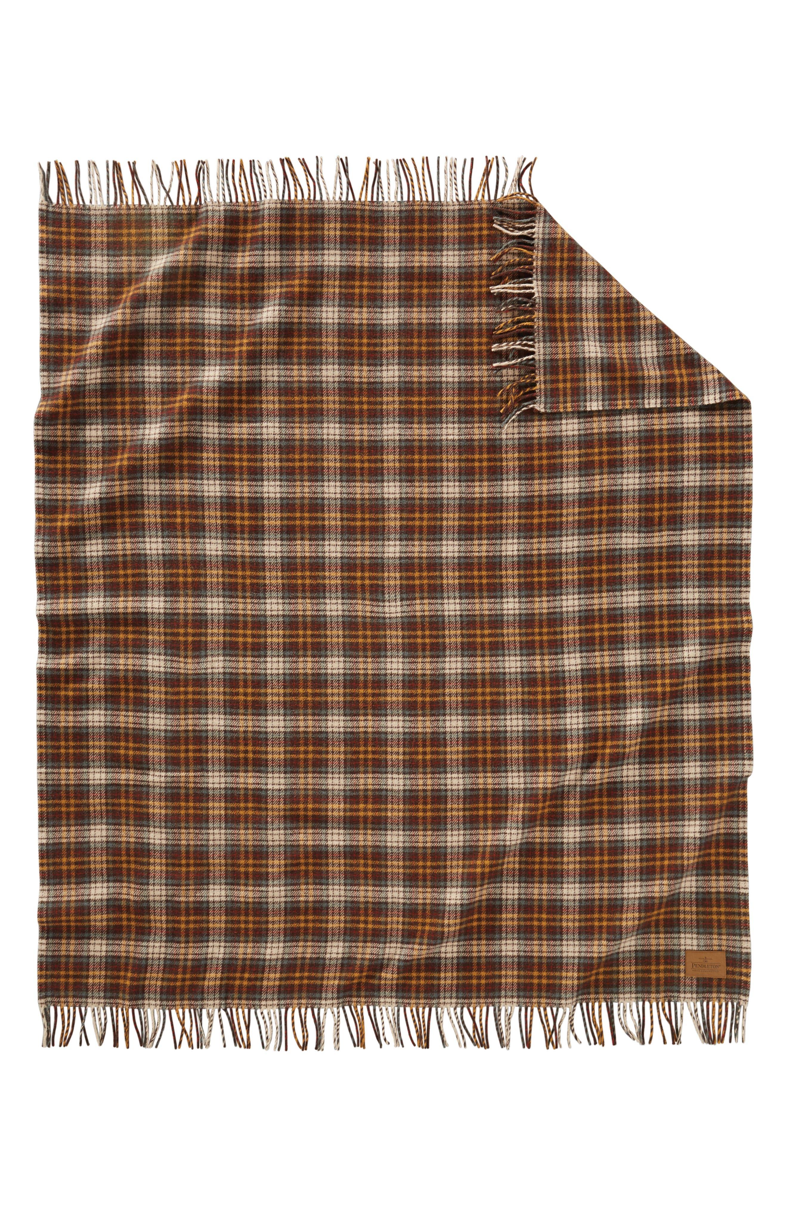 Wool Motor Robe,                             Alternate thumbnail 3, color,                             WHISKEY CREEK